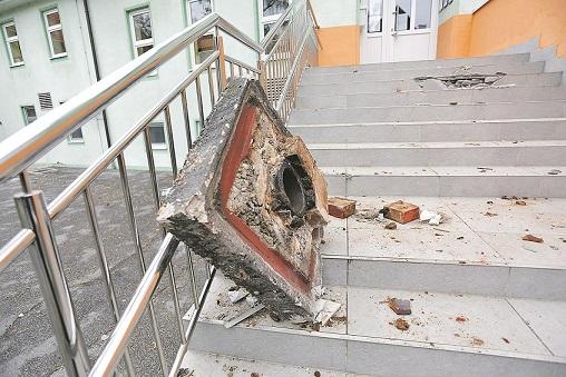 Zagreb, 240320. Stanje skola i vrtica nakon potresa.  Na fotografiji: Hotelijersko vrtic Izvor u Dezelicevoj ulici.  Foto: Marko Todorov / CROPIX