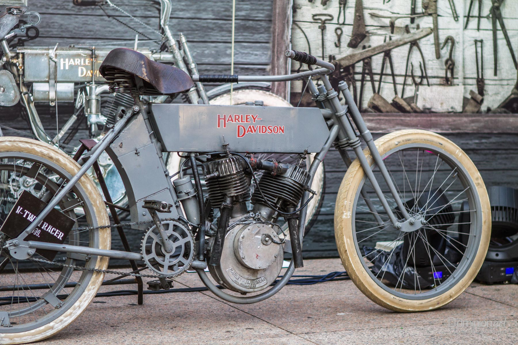 ZAGREB, CROATIA – November 14. 2016: Discovery canal presentation of TV show Harley and the Davidsons with retro and historic motor bikes