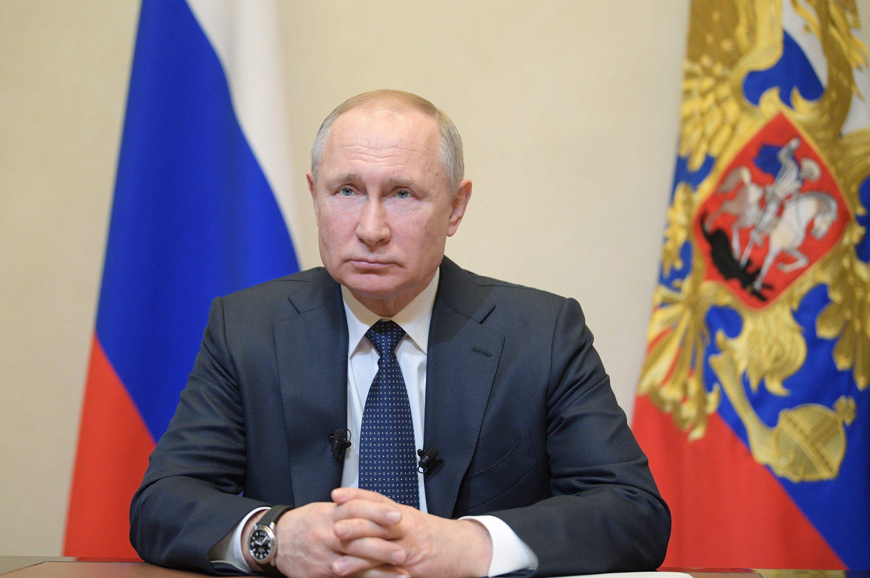 Ruski predsjednik Vladimir Putin u obraćanju javnosti