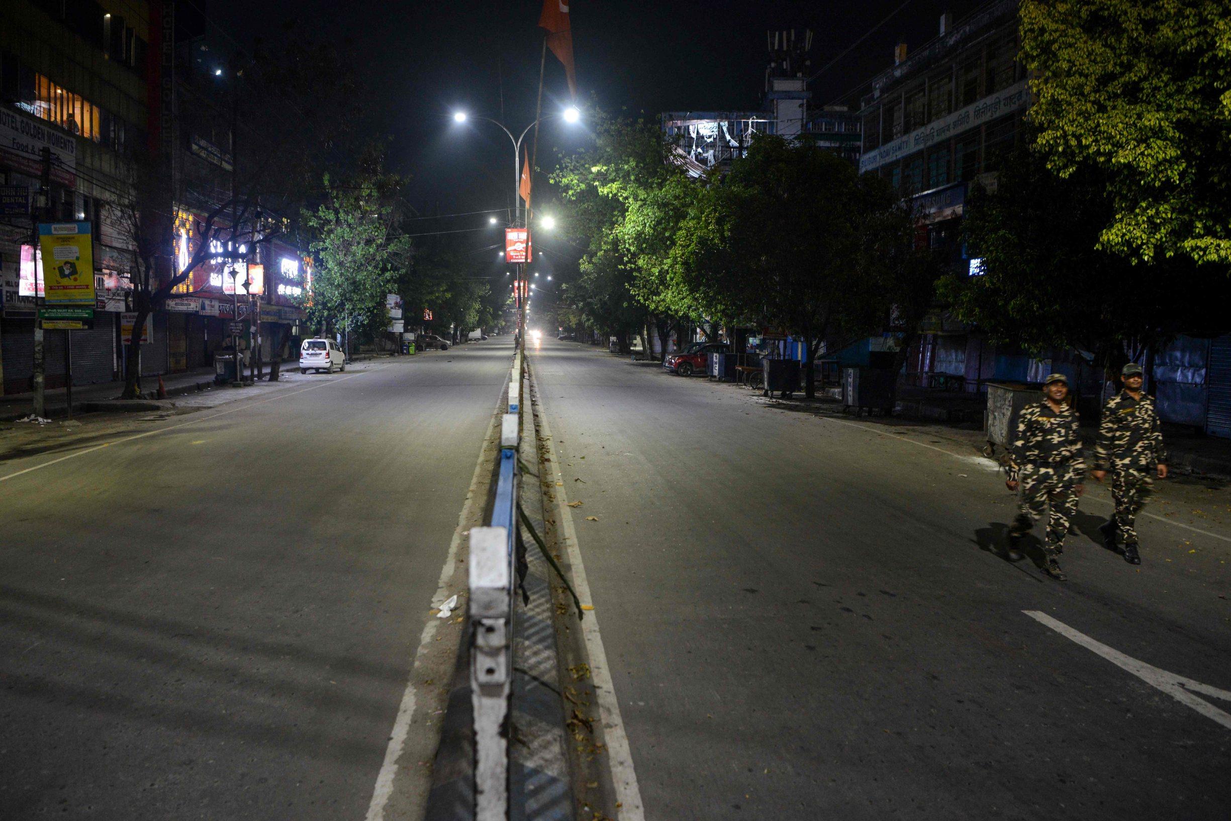 Prazne ulice indijskih gradova