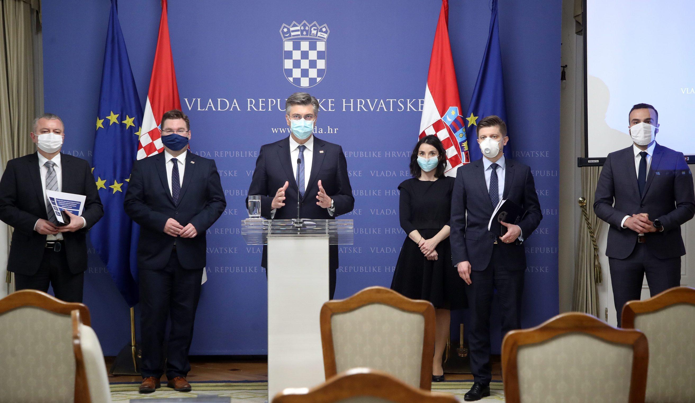 Darko Horvat, Marko Pavić, Andrej Plenković, Marija Vučković, Zdravko Marić i Josip Aladrović