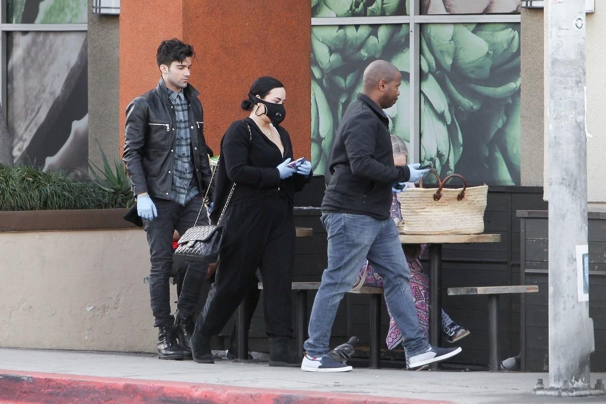 Demi Lovato s dečkom Maxom Ehrichom kupuje namirnice uoči karantene