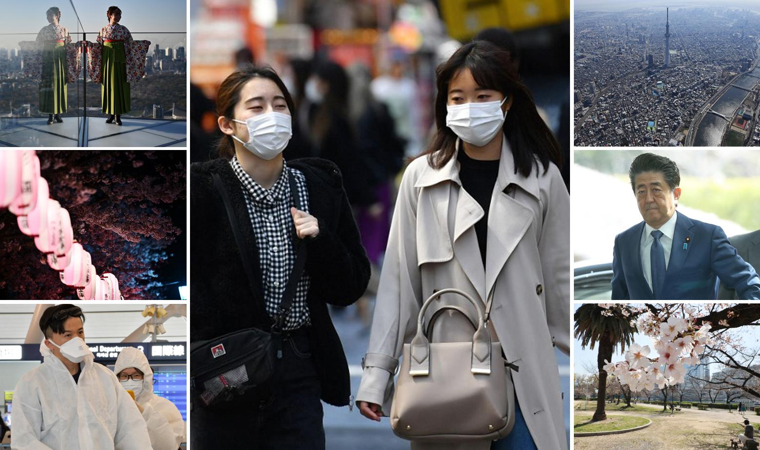 Prizori iz Japana i premijer Shinzo Abe (desno)