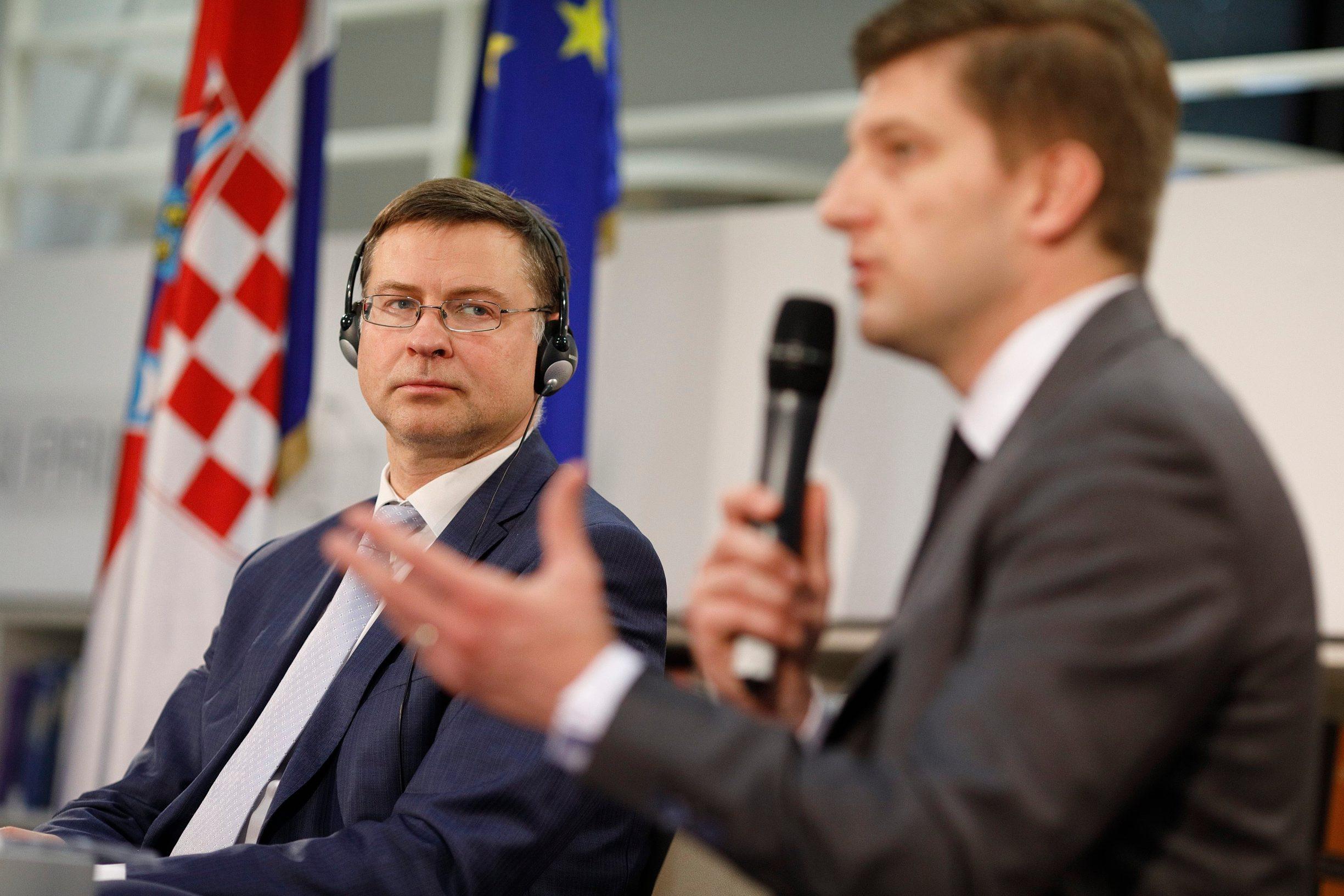 Europski povjerenik za ekonomiju i hrvatski ministar financija Zdravko Marić