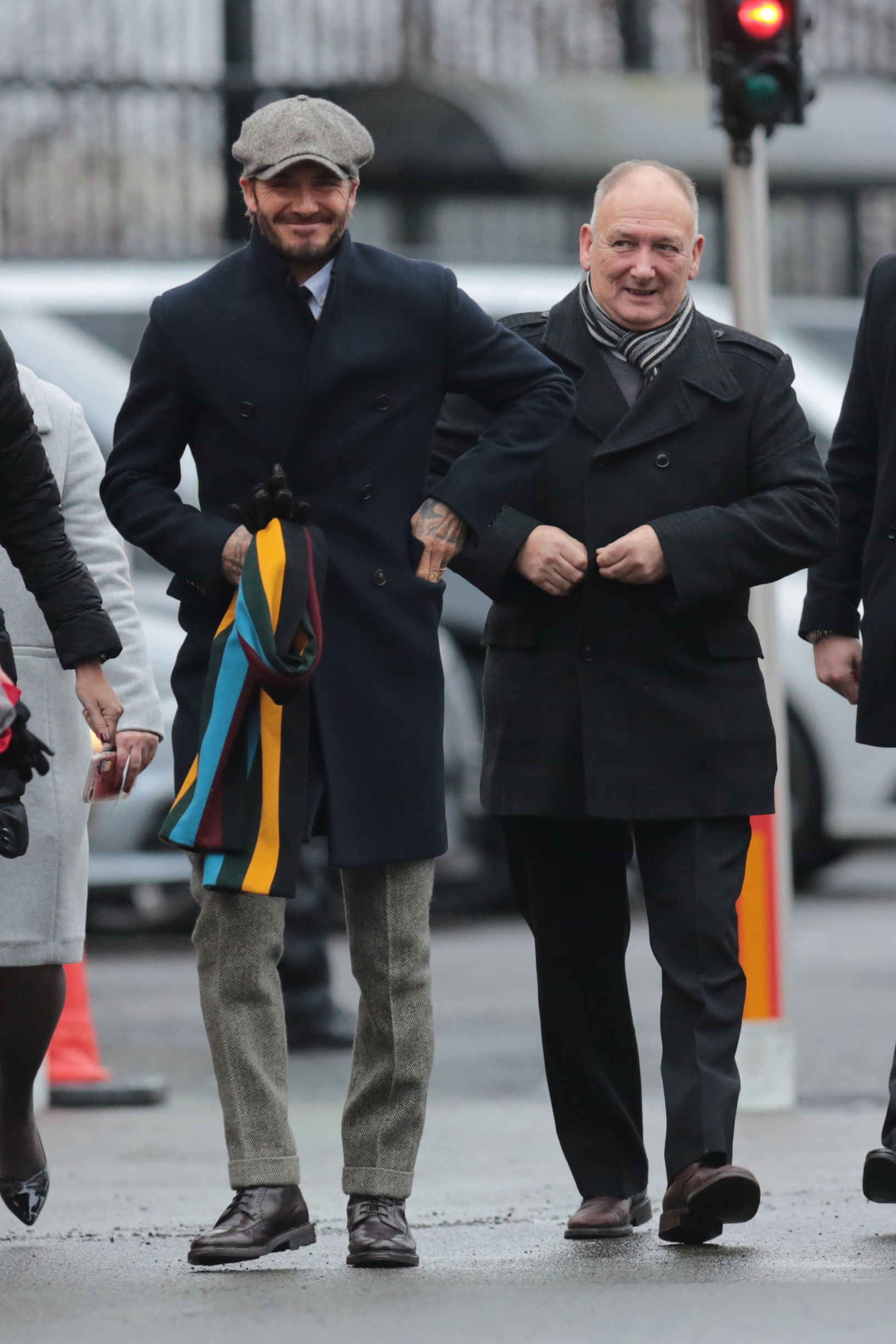 15 Jan 2017 - Manchester - UK  ** STRICTLY NOT AVAILABLE FOR MAIL ONLINE AND ANY ONLINE SUBSCRIPTION DEALS UNLESS FEE AGREED PRIOR TO USAGE***   David Beckham along with his Father and son Romeo arrive at Old Trafford to watch manchester United play Liverpool, Image: 310863800, License: Rights-managed, Restrictions: PLEASE CREDIT AS PER BYLINE *UK CLIENTS - PLEASE PIXELATE CHILDS FACE BEFORE PUBLICATION**UK CLIENTS MUST CALL PRIOR TO TV OR ONLINE USAGE PLEASE TELEPHONE 44 208 344 2007**, Model Release: no, Credit line: CWSF2 / Backgrid UK / Profimedia