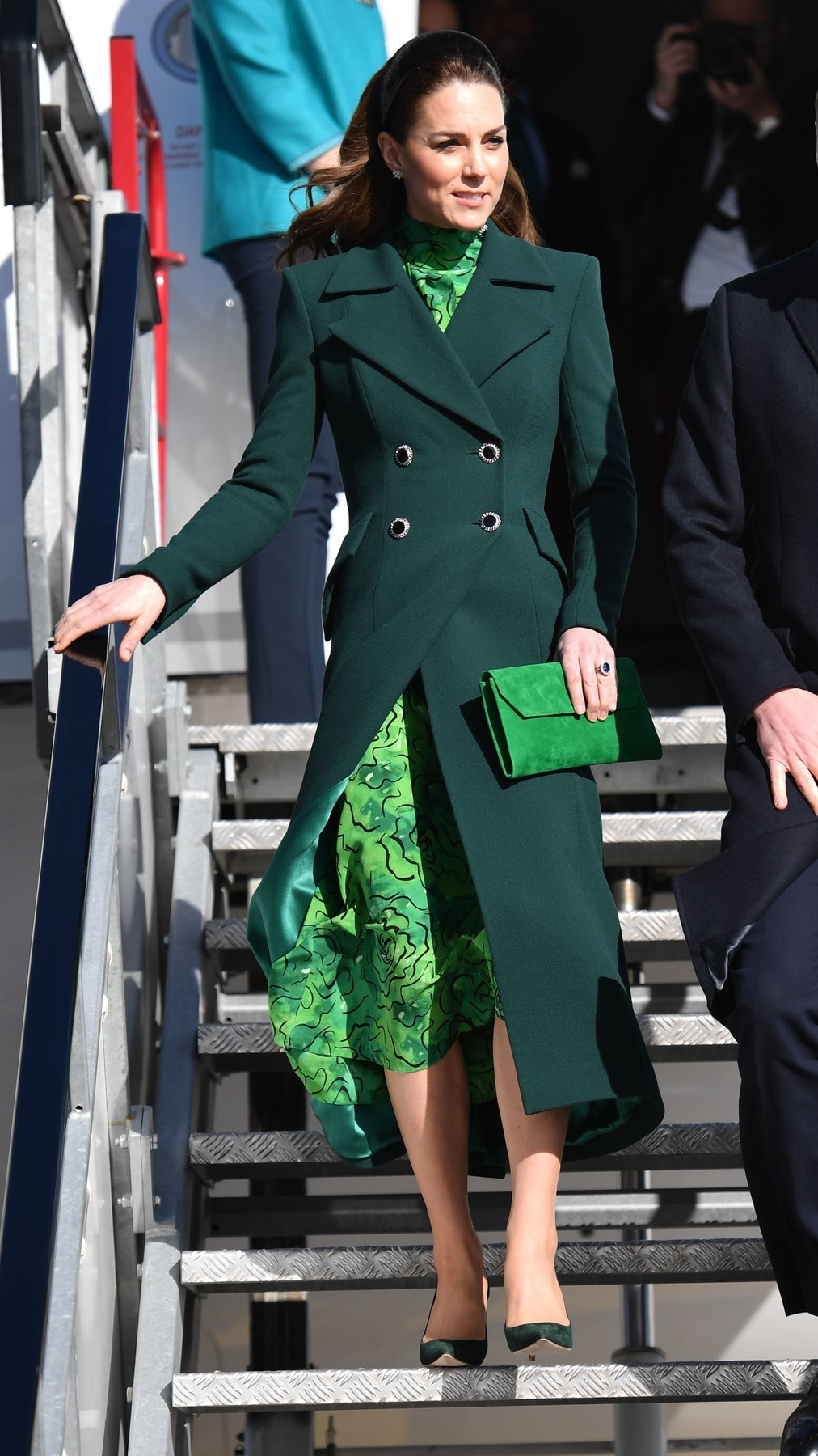Catherine Duchess of Cambridge arrives at Dublin International Airport Prince William and Catherine Duchess of Cambridge visit to Ireland - 03 Mar 2020, Image: 502756684, License: Rights-managed, Restrictions: , Model Release: no, Credit line: Tim Rooke / Shutterstock Editorial / Profimedia