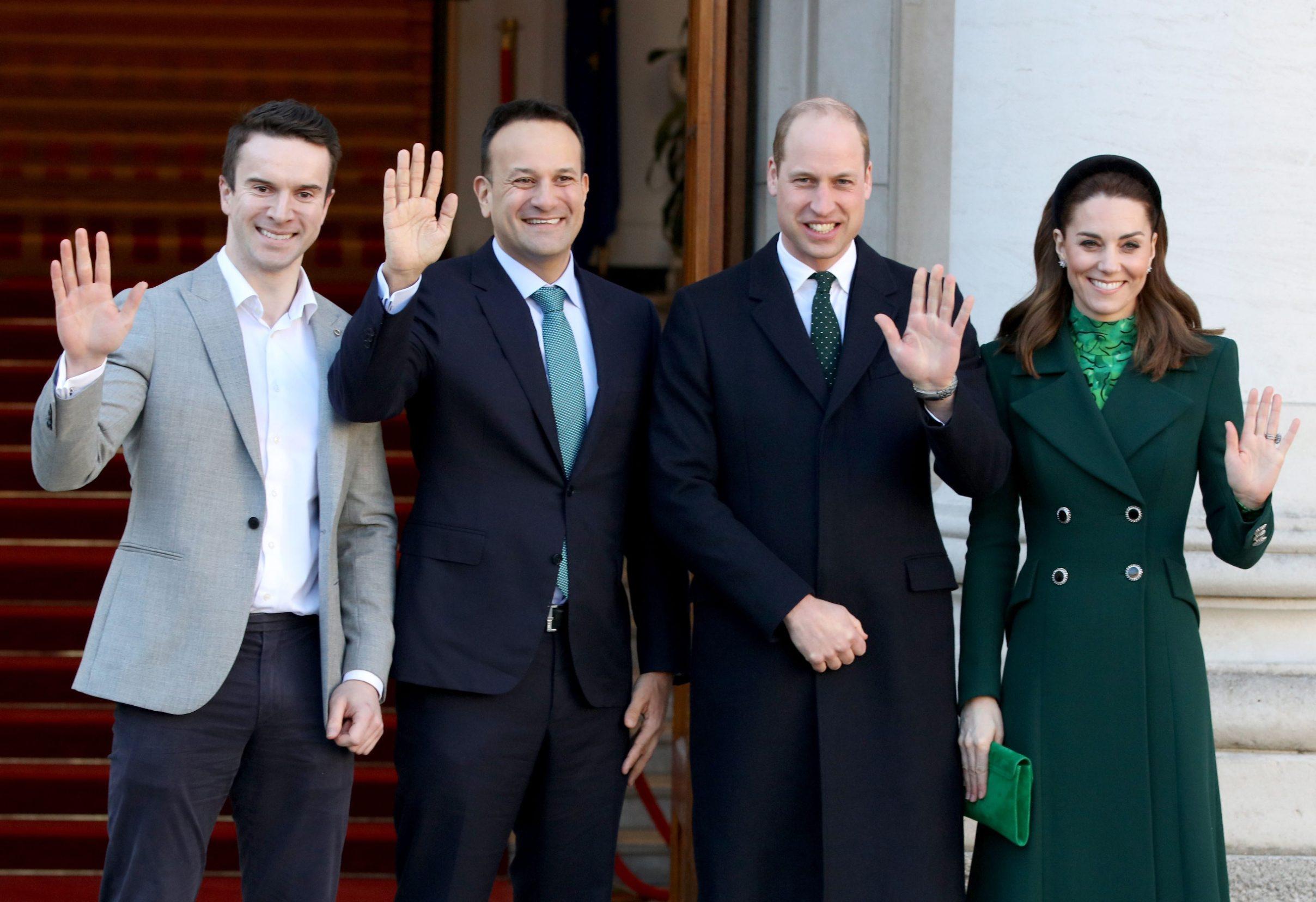 Irski premijer Matthew Barrett, njegov partner Leo Varadkar , princ Wiliiam i supruga Kate