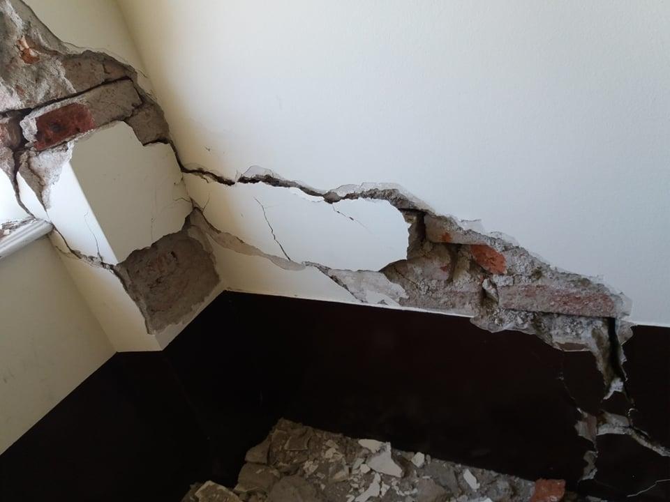 Ured prijatelja životinja oštećen je u potresu