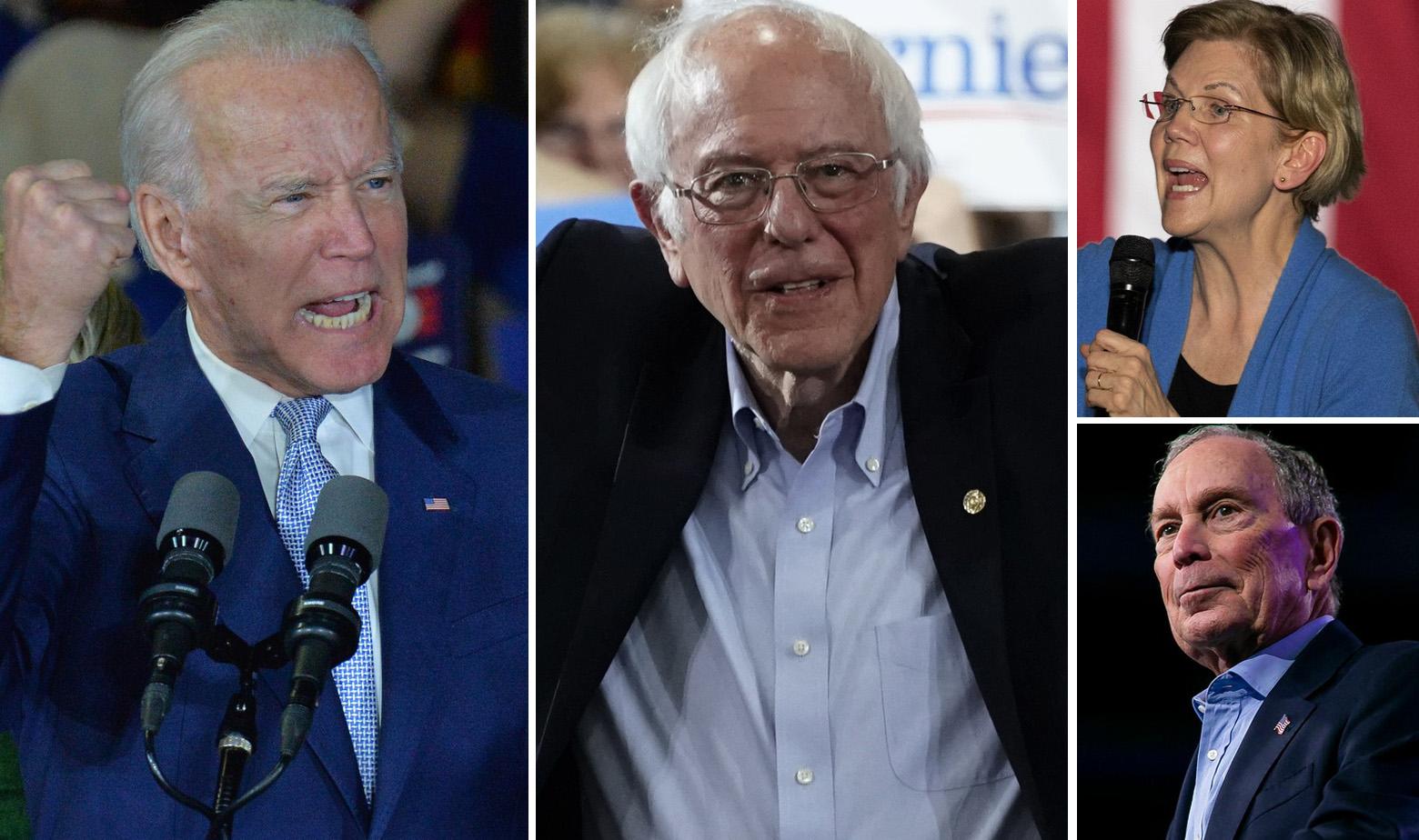 Joe Biden, Bernie Sanders, Elizabeth Warren, Michael Bloomberg