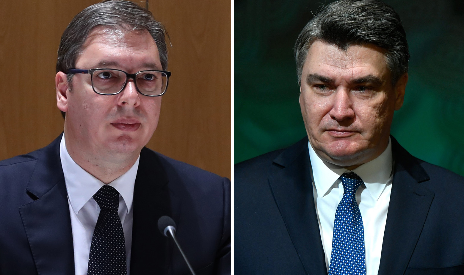 Aleksandar Vučić i Zoran Milanović
