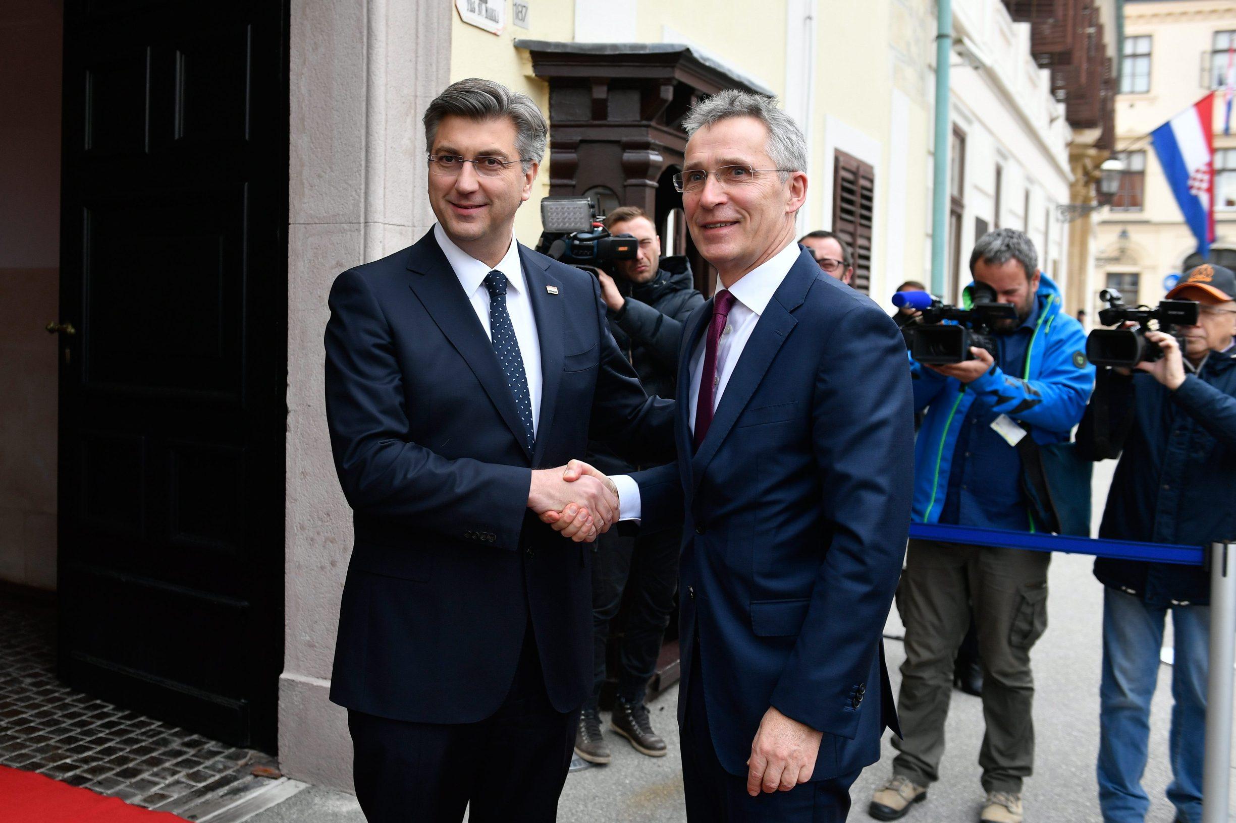 Andrej Plenković i Jens Stoltenberg