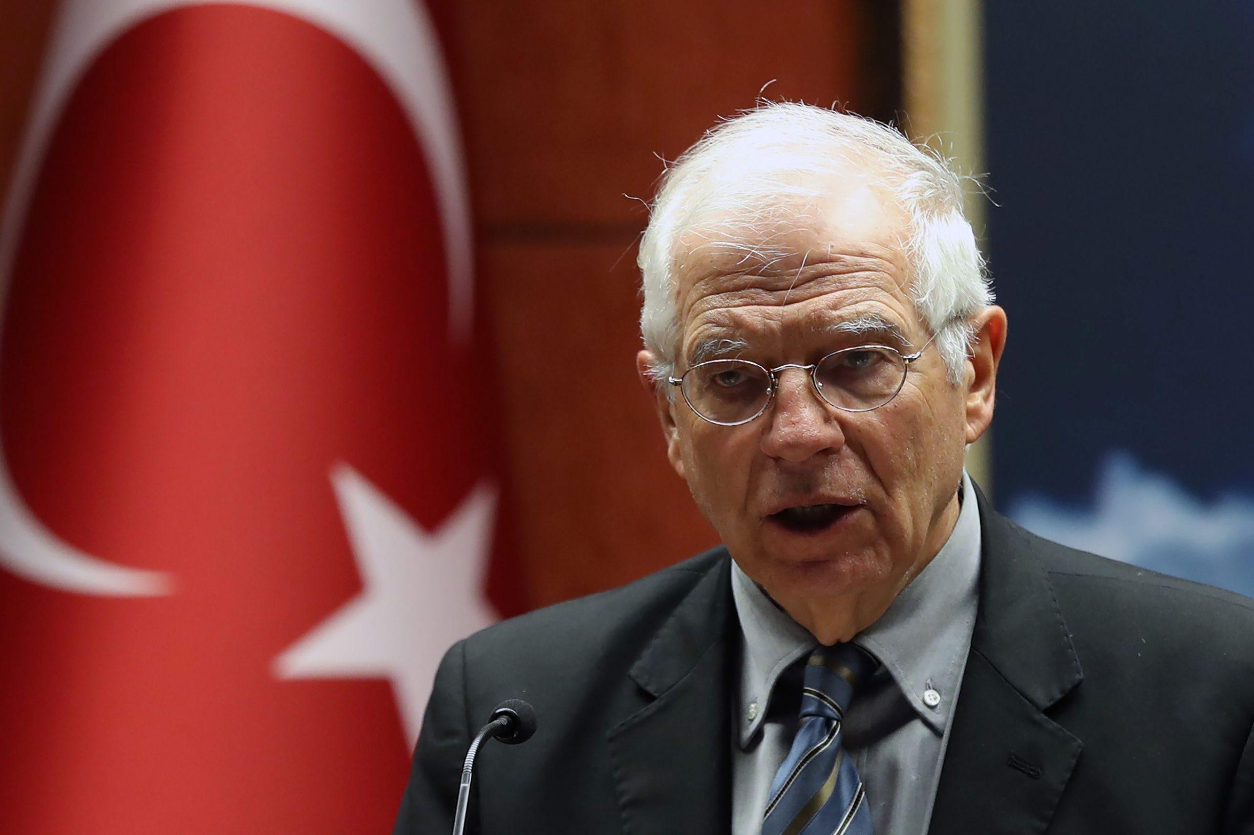 Josep Borrell u Ankari, neposredno prije dolaska u Zagreb