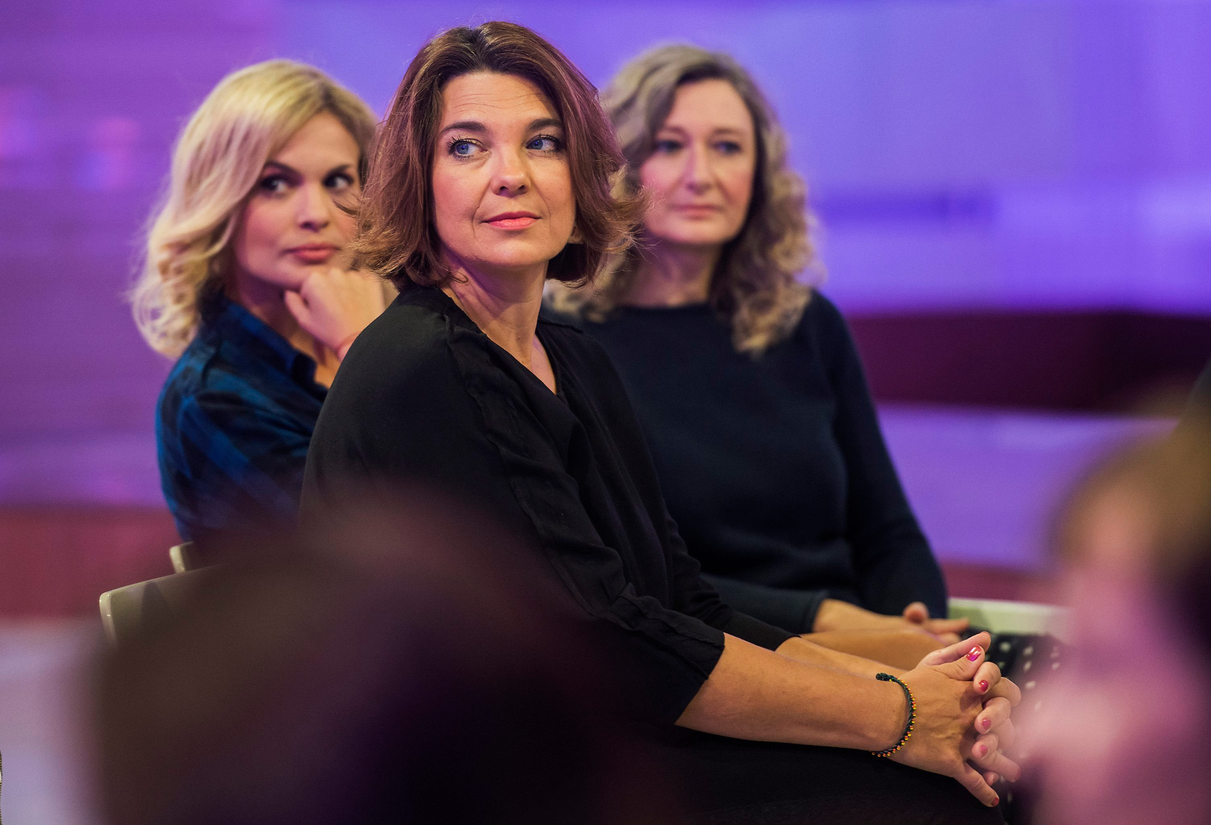 Zagreb, 100913. Na HRT-u je predstavljena jesenska shema programa. Na fotografiji: Nevena Rendeli, Karmela Vukov Colic i Vesna Karuza. Foto: Neja Markicevic / CROPIX