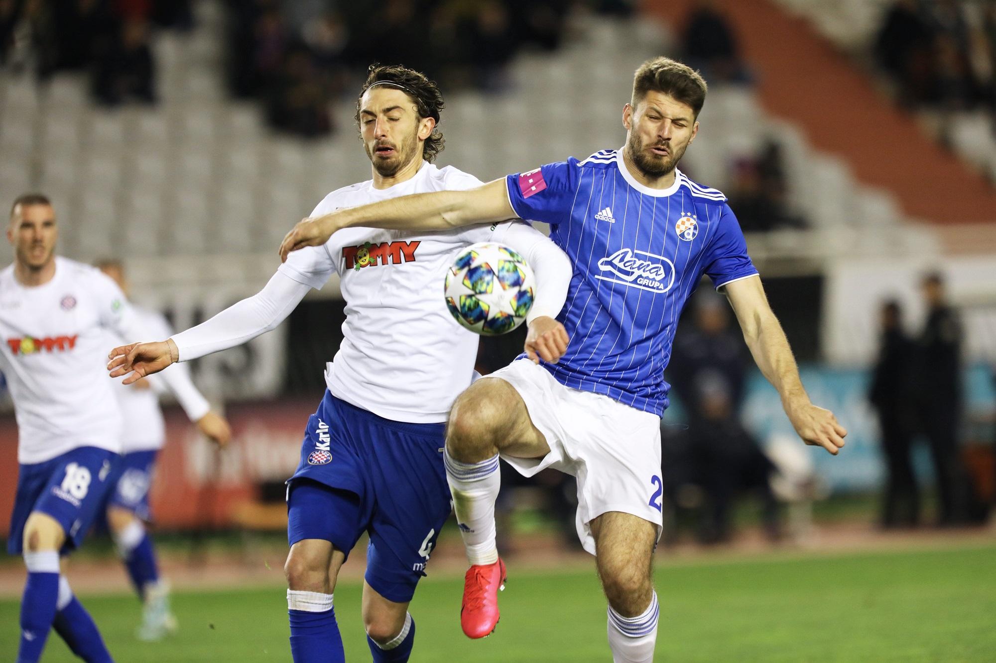 Split, 040320 Stadion Poljud. Nogometna utakmica 25. kola HT Prve lige, Hajduk - Dinamo. Na fotografiji: Bruno Petkovic. Foto: Vojko Basic / CROPIX