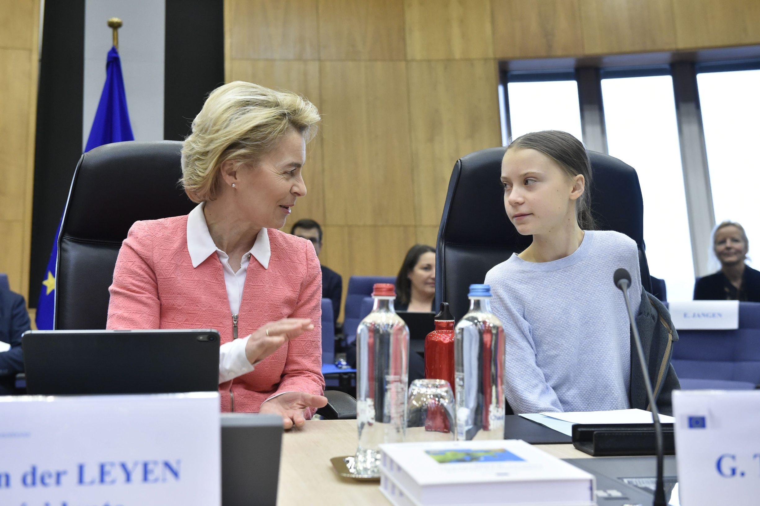 Predsjednica Europske komisije Ursula von der Leyen i klimatska aktivistica Greta Thunberg