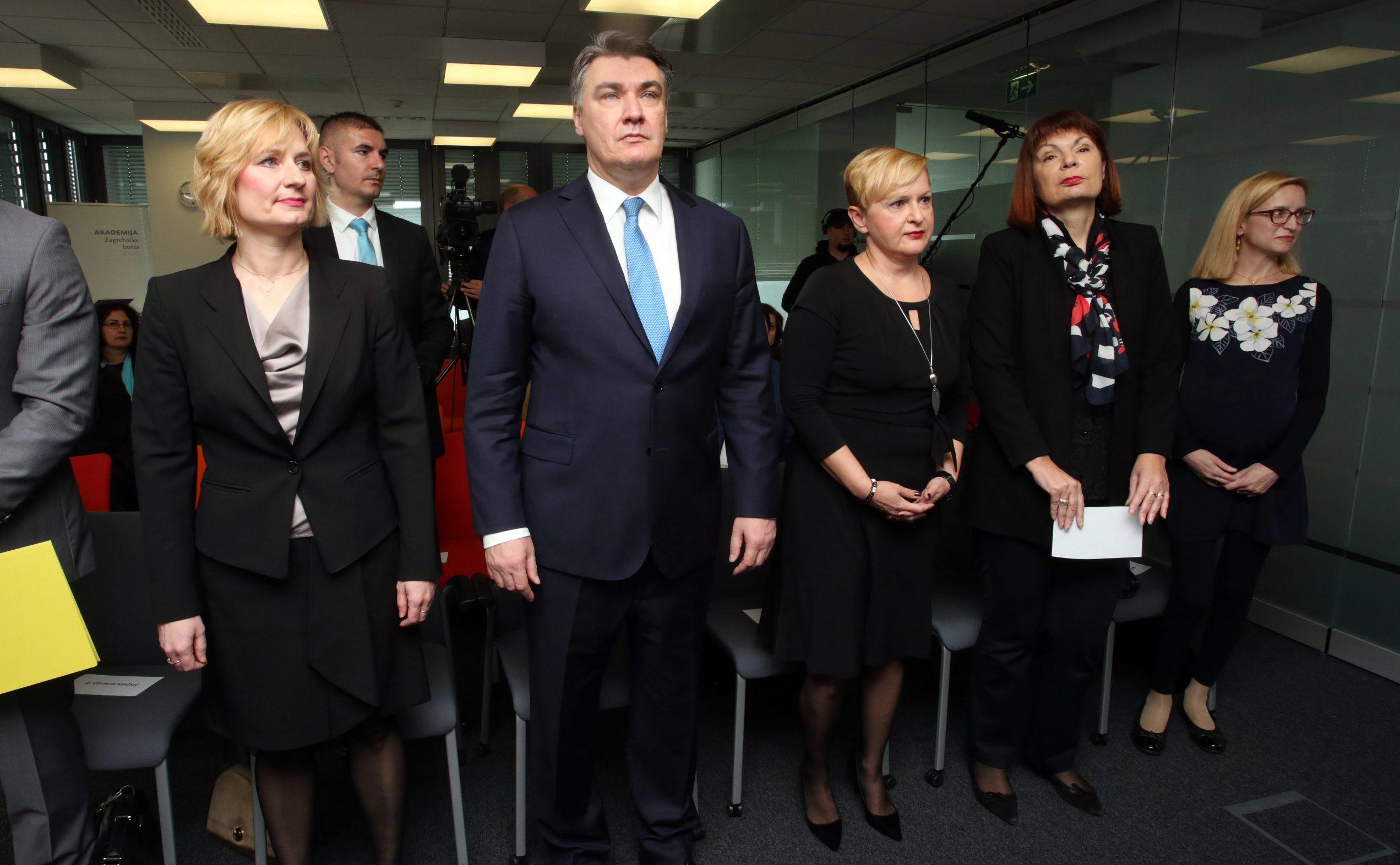 S lijeva na desno: Melita Mulić, Zoran Milanović, Ivana Gažić i Gordana Deranja