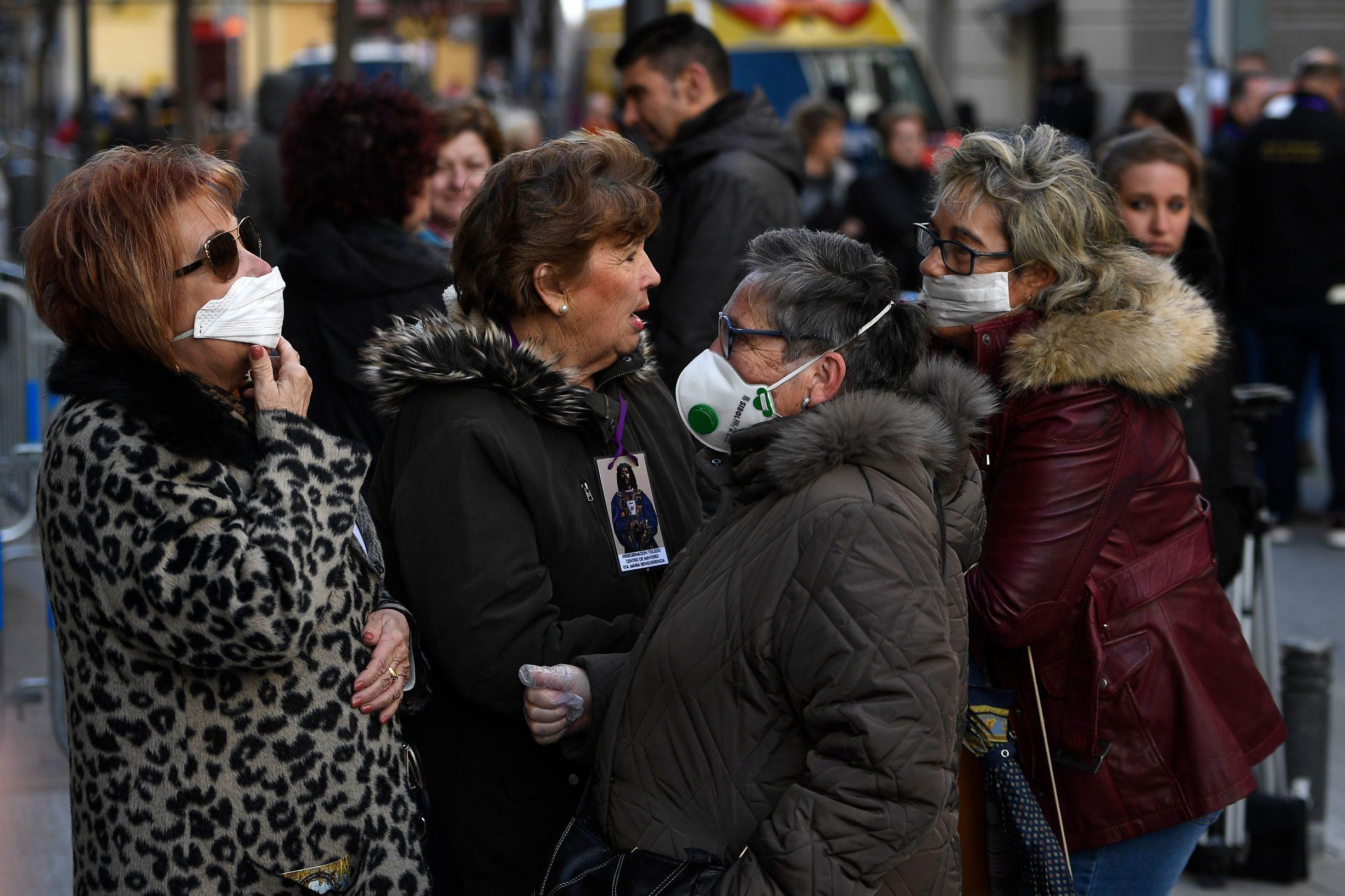 Ilustracija: zaštitne maske na ulicama Madrida
