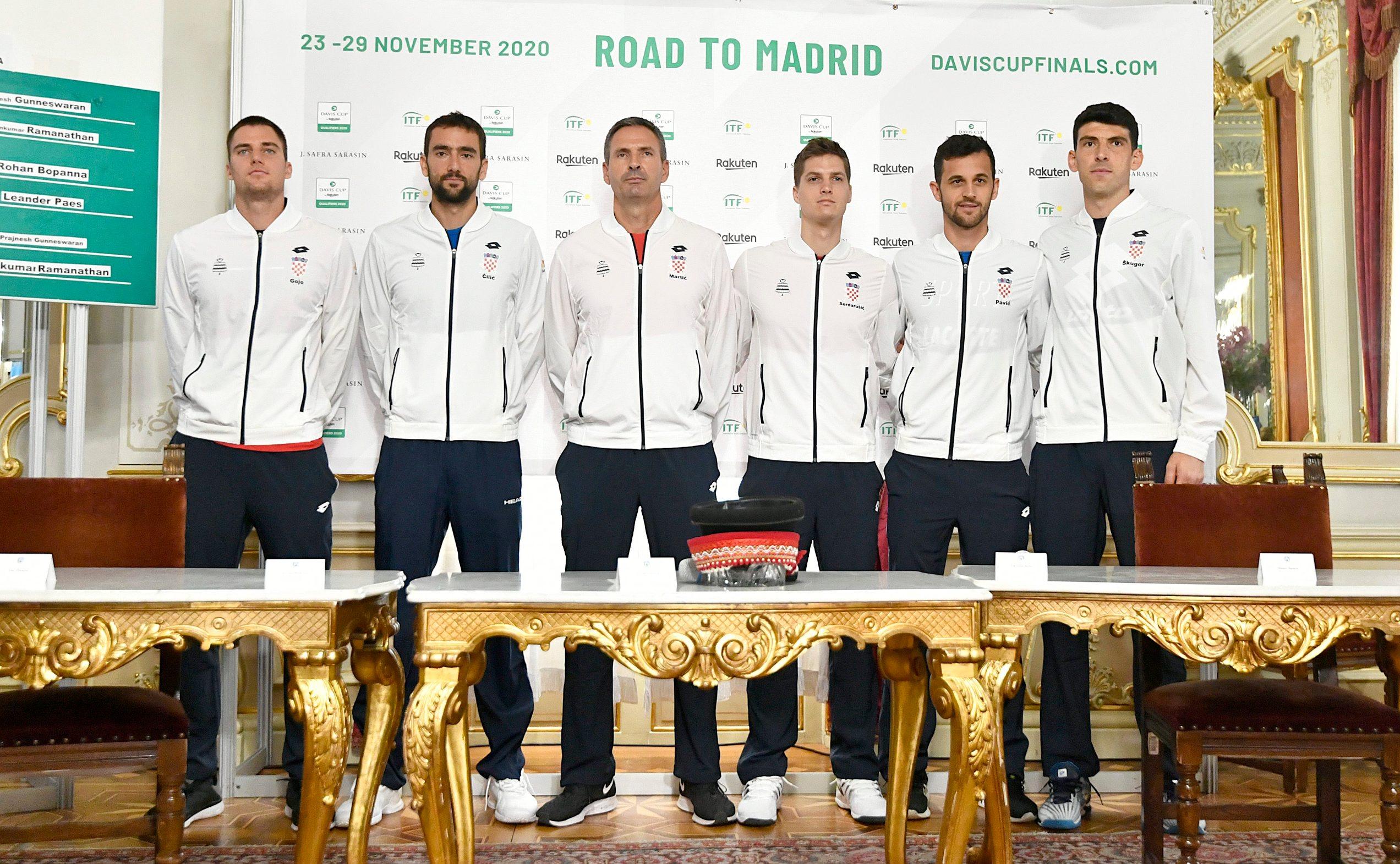 Hrvatska reprezentacija: Borna Gojo, Marin Čilić, Vedran Martić, Nino Serdarušić, Mate Pavić i Franko Škugor