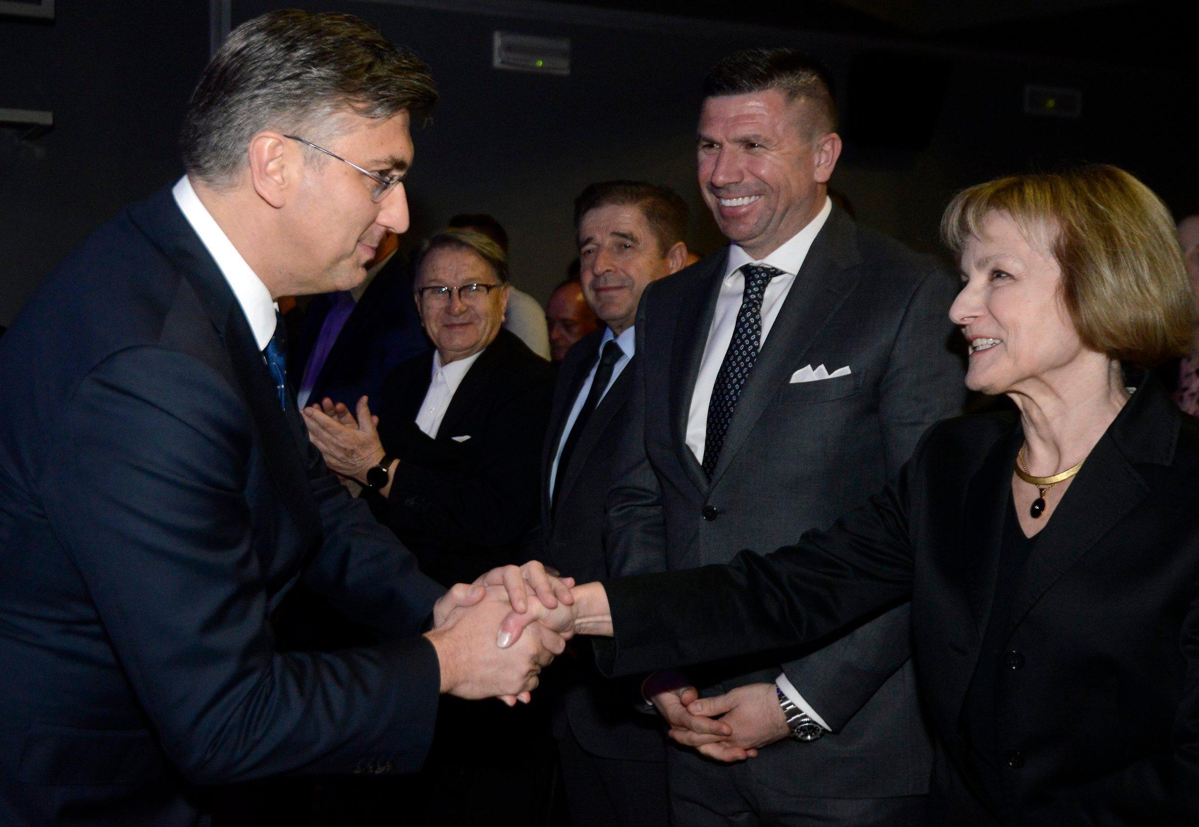 Andrej Plenković, Ivica Pirić i Nevenka Tuđman
