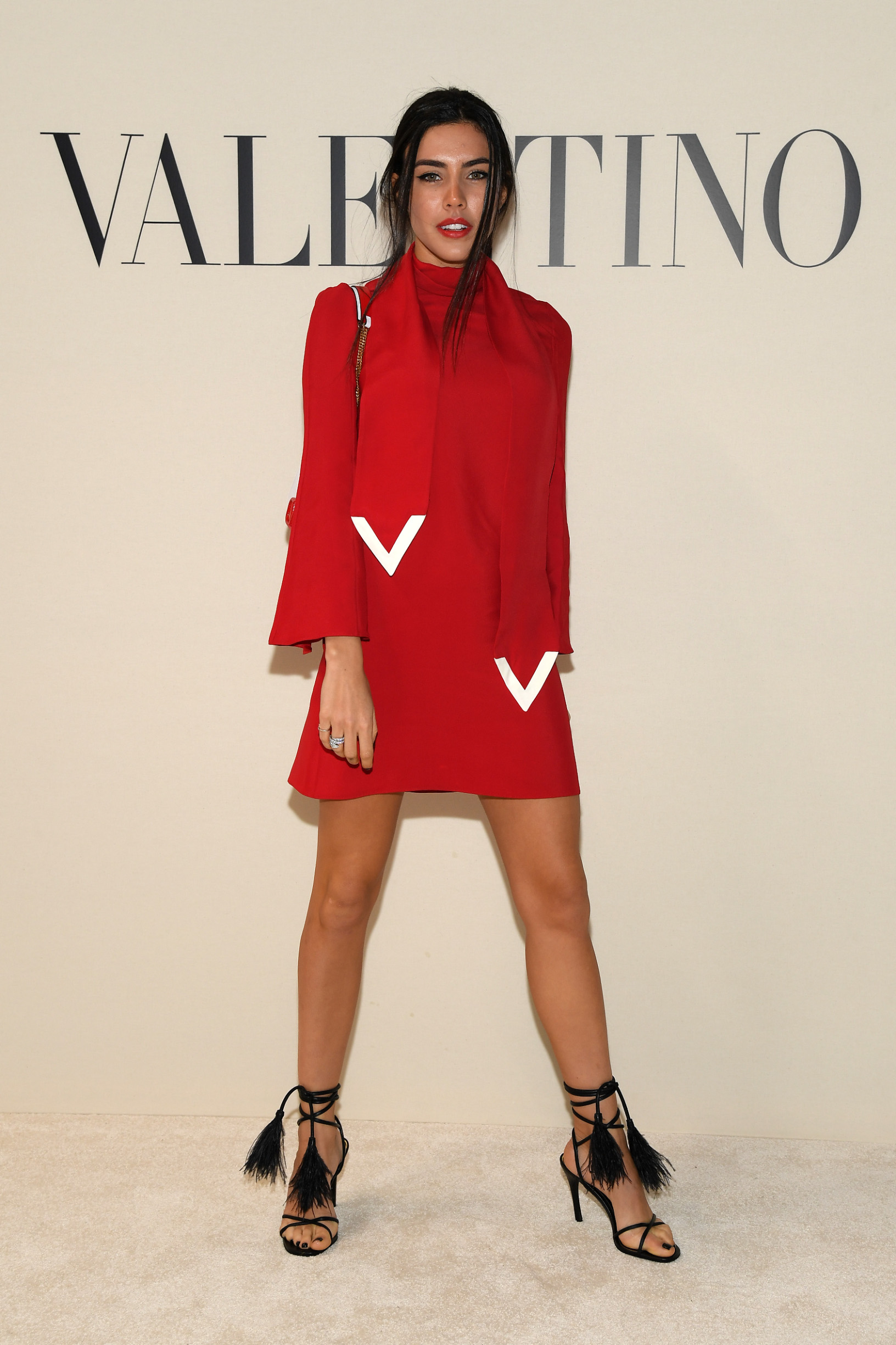 PARIS, FRANCE - MARCH 01: (EDITORIAL USE ONLY) A guest attends the Valentino show as part of the Paris Fashion Week Womenswear Fall/Winter 2020/2021 on March 01, 2020 in Paris, France. (Photo by Pascal Le Segretain/Getty Images)