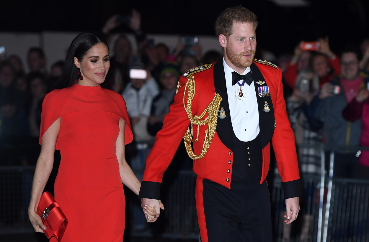 7 March 2020.  The Duke of Sussex, Captain General, Royal Marines, accompanied by The Duchess of Sussex attend the Mountbatten Festival of Music at the Royal Albert Hall on Saturday 7th March 2020.   The Festival brings together world-class musicians, composers and conductors of the Massed Bands of Her Majesty's Royal Marines. This year, the performance will mark the 75th anniversary of the end of the Second World War and the 80th anniversary of the formation of Britain's Commandos., Image: 504466687, License: Rights-managed, Restrictions: , Model Release: no, Credit line: Justin Goff / Goff Photos / Profimedia