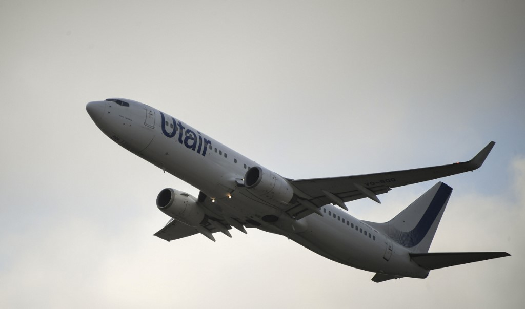 Utair Airlines Boeing 737-800 takes off at the Vnukovo International Airport in Moscow, Russia.