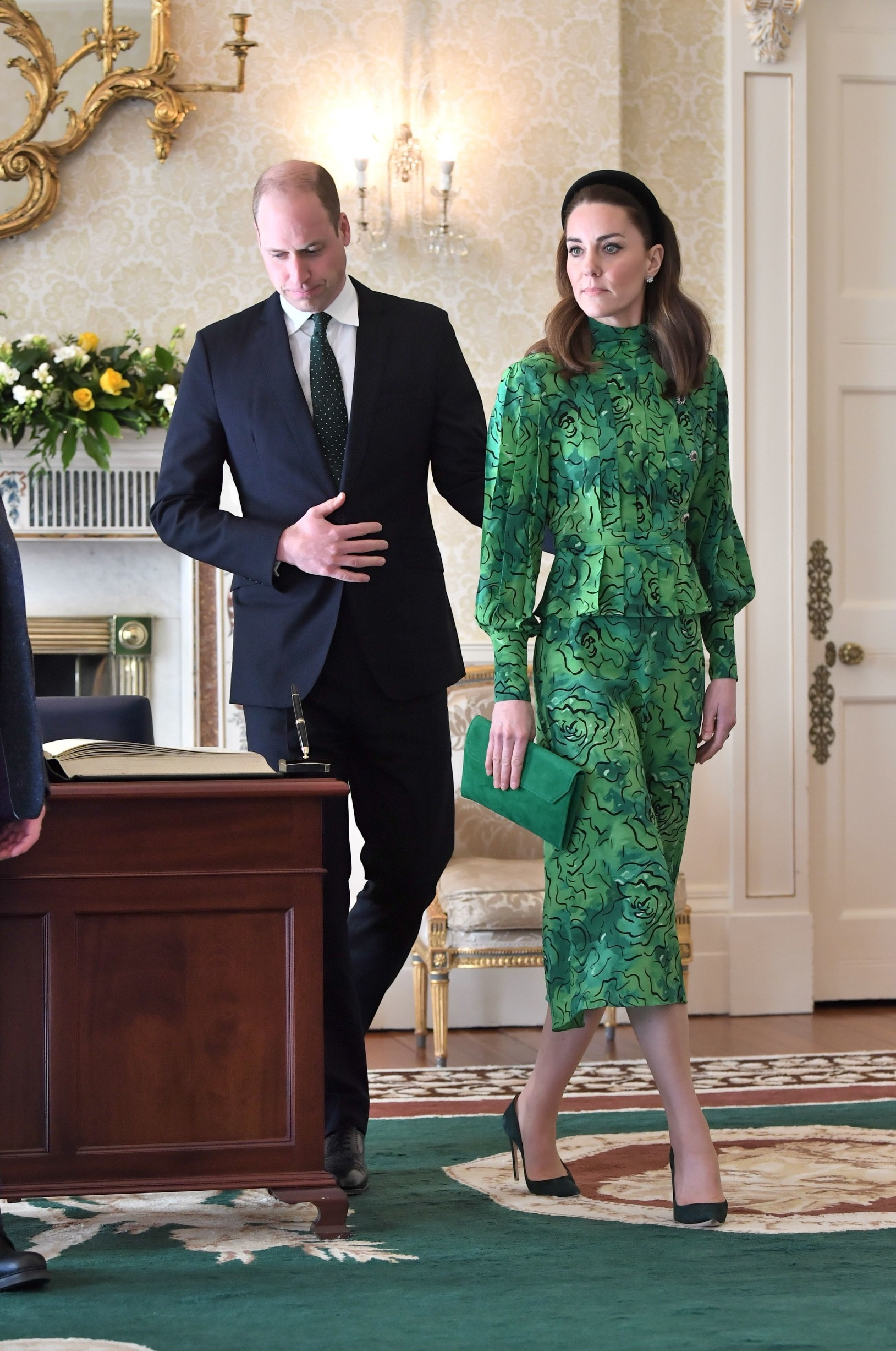 Prince William and Catherine Duchess of Cambridge arrive for a meeting with the President of Ireland Prince William and Catherine Duchess of Cambridge visit to Ireland - 03 Mar 2020, Image: 502799273, License: Rights-managed, Restrictions: , Model Release: no, Credit line: REX / Shutterstock Editorial / Profimedia