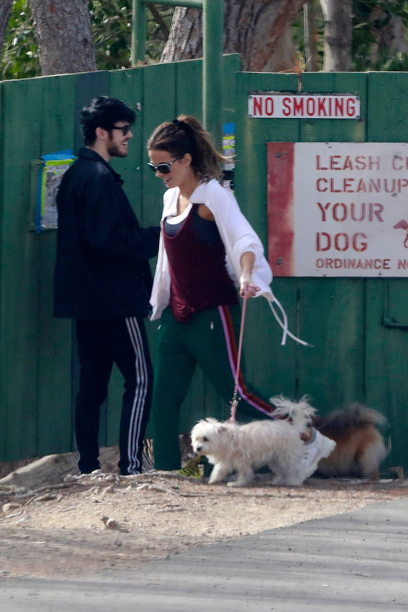 EXCLUSIVE: Kate Beckinsaleis spotted today walking her dog in a