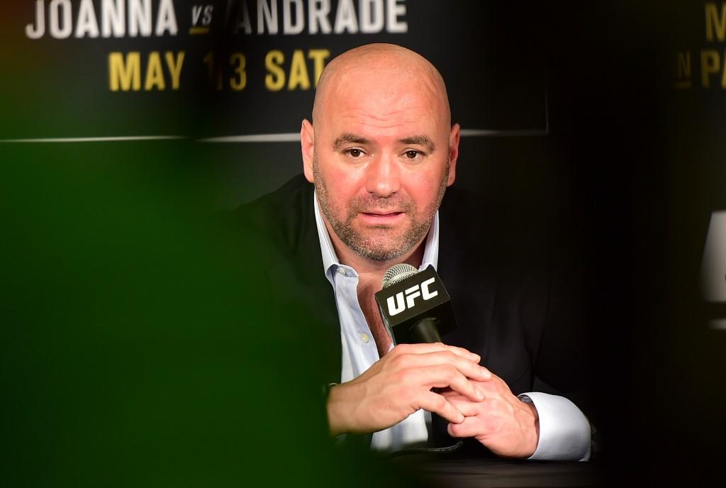 Dallas, TX, USA - 13/05/2017 - UFC 211 Dana White, presidente do Ultimate, durante a coletiva de Imprensa apos o UFC 211 na American Airlines Center. Foto: Jason Silva/AGIF