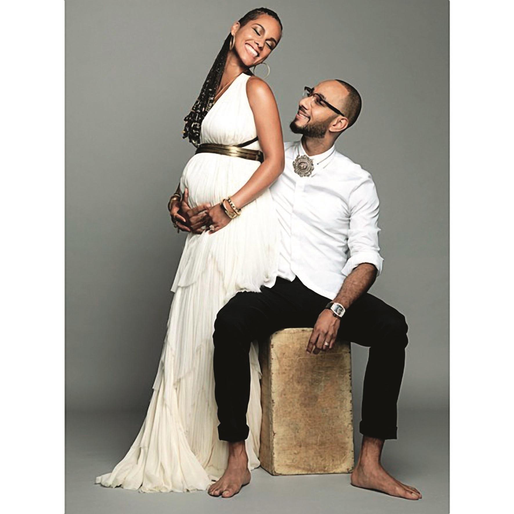 Was fuer ein schoenes Geschenk zum Hochzeitstag! Alicia Keys und ihr Ehemann Swizz Beatz erwarten ihr zweites Baby: