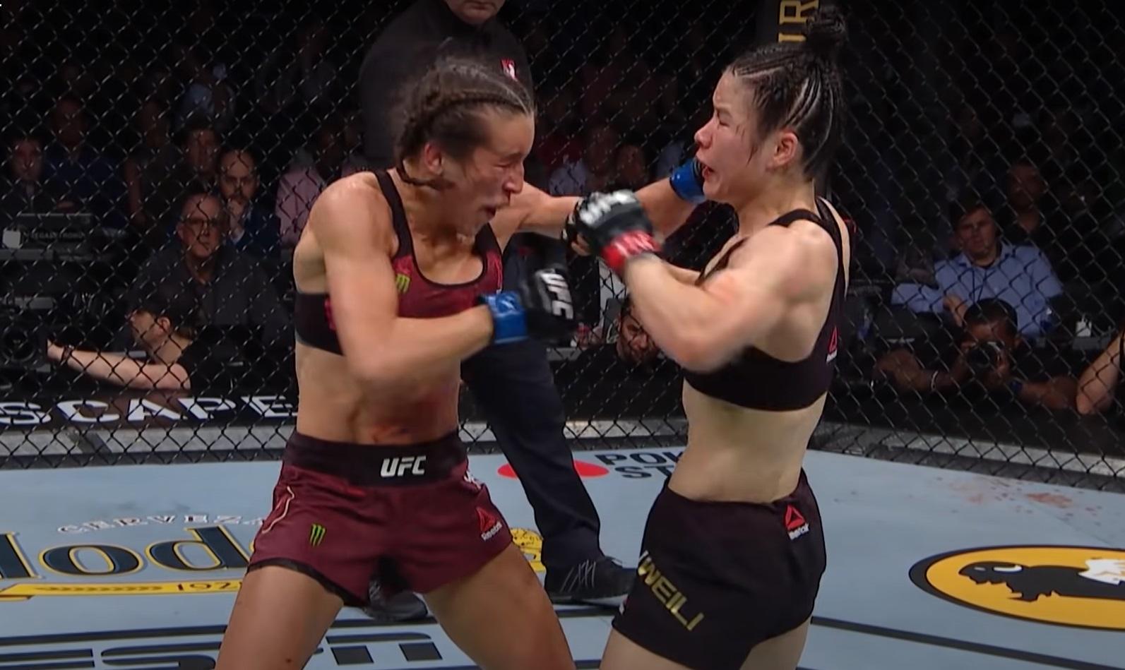Joanna Jedrzejczyk i Weili Zhang