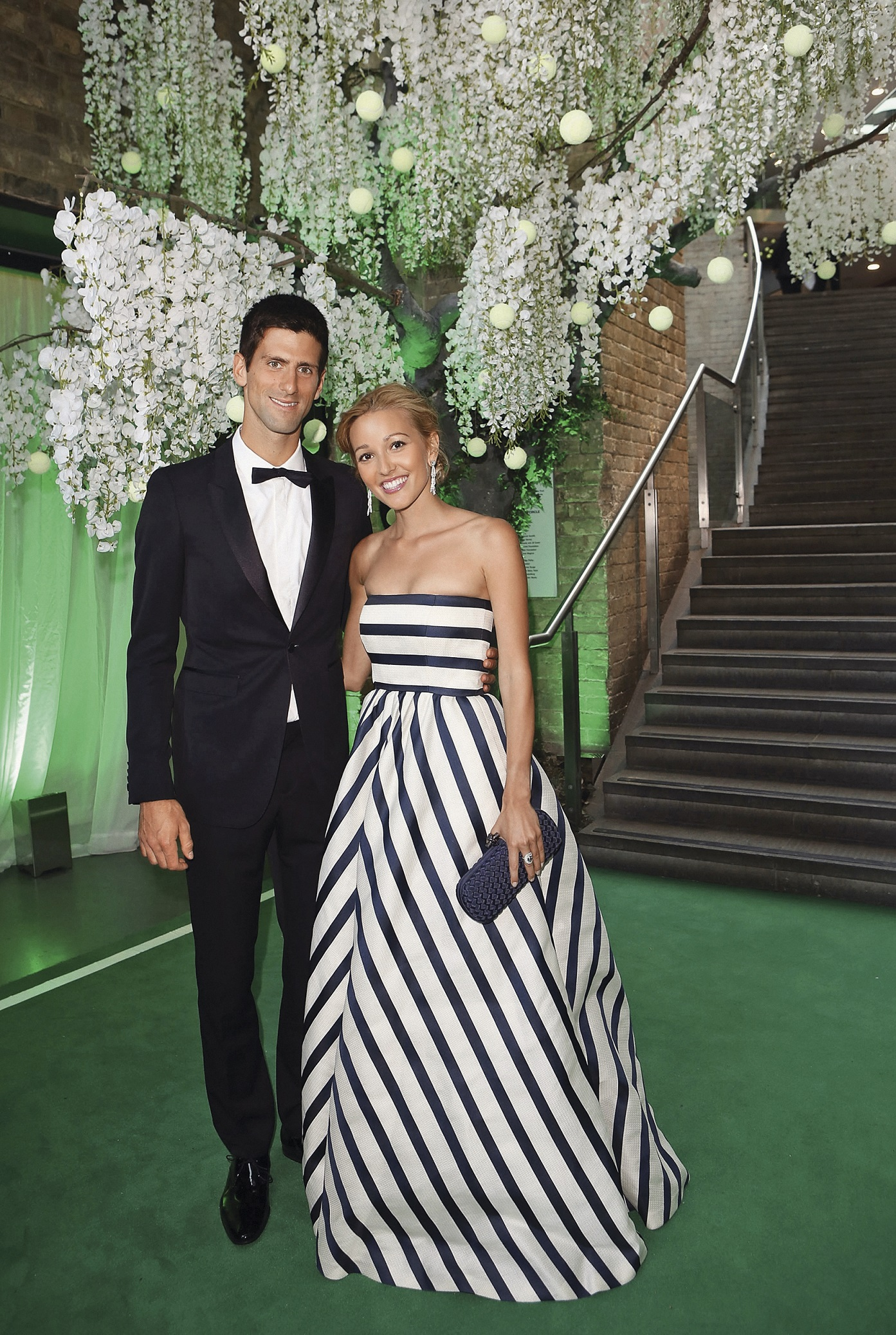 LONDON, ENGLAND - JULY 08:  Novak Djokovic and Jelena Ristic attend the Novak Djokovic Foundation inaugural London gala dinner at The Roundhouse on July 8, 2013 in London, England.  The foundation supports vulnerable and disadvantaged children, especially in Djokovics native Serbia.  (Photo by Tim P. Whitby/Getty Images for Novak Djokovic Foundation)