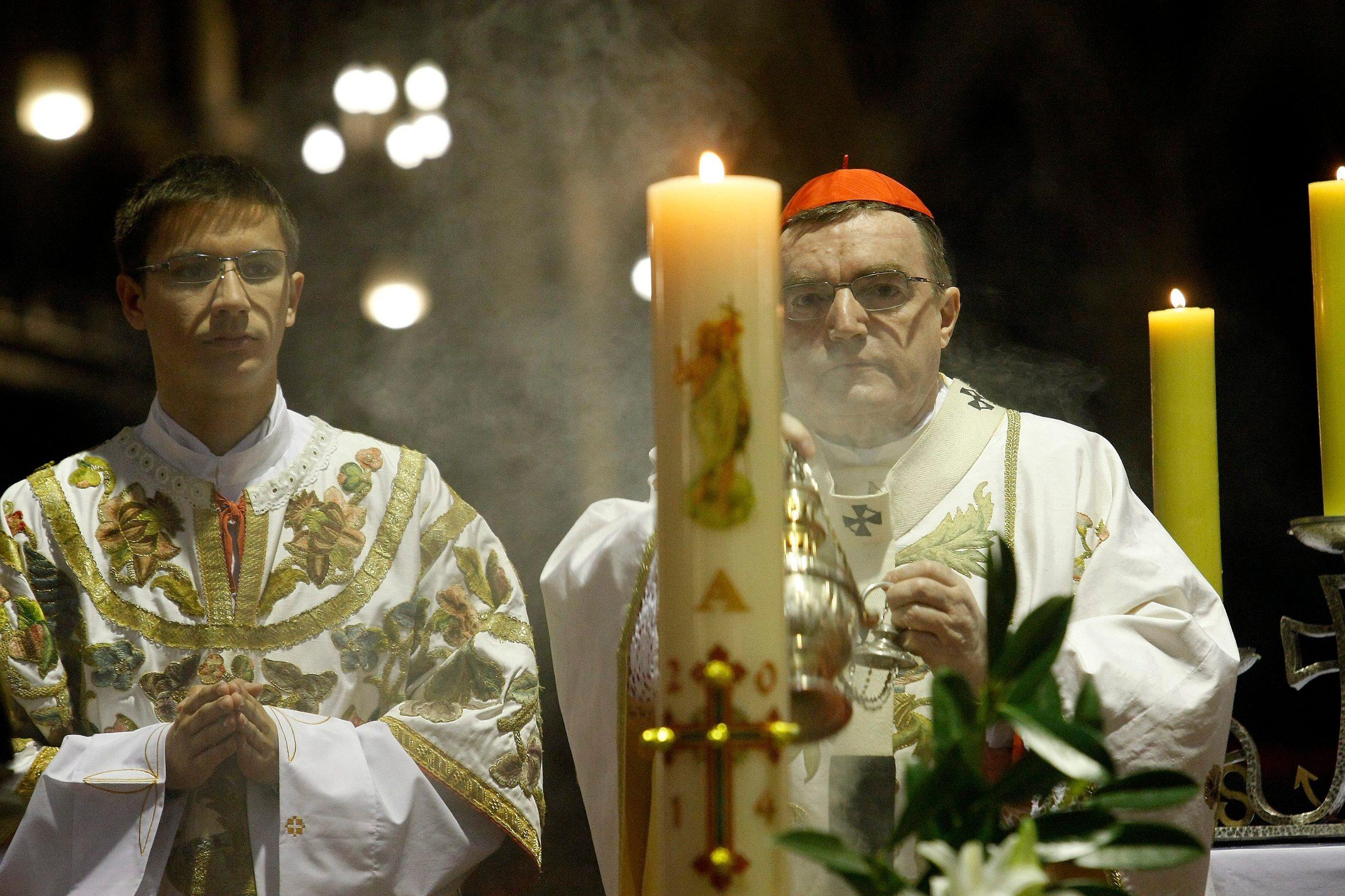Bozanić je predvodio uskrsno euharistijsko slavlje u travnju 2019.