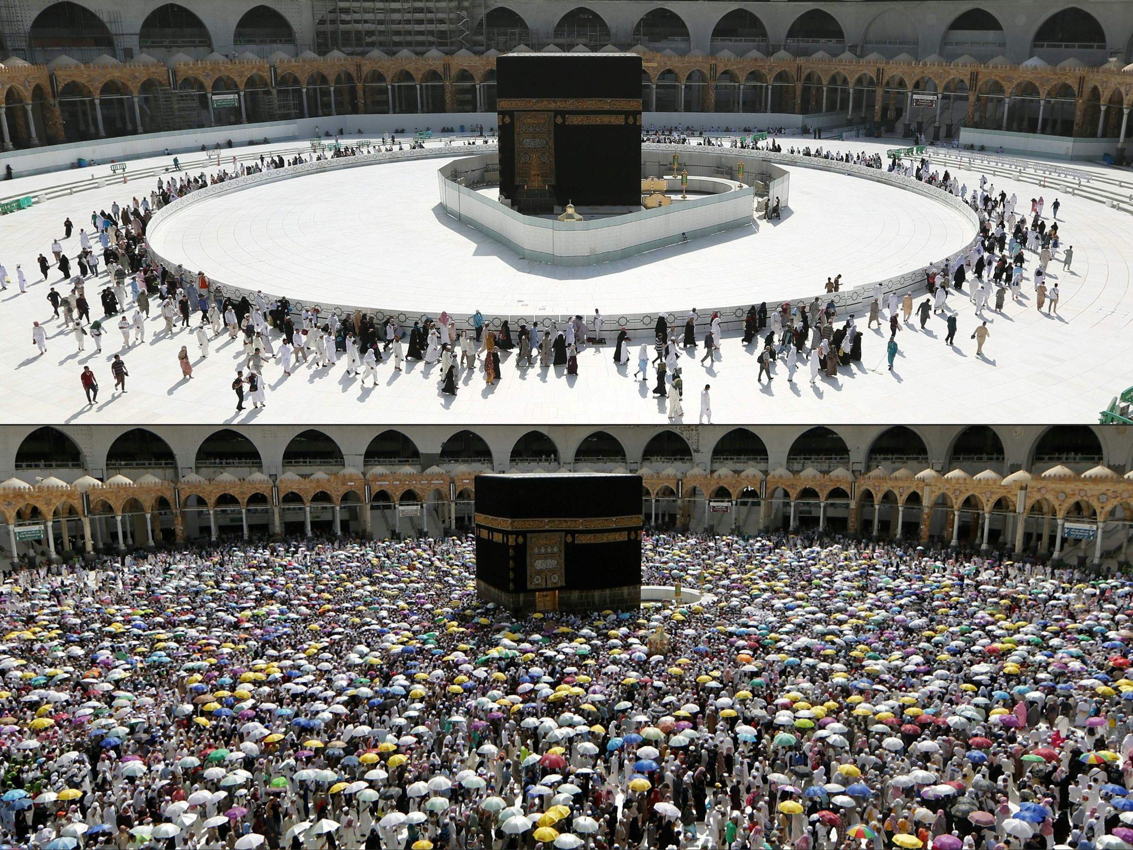 Meka u ožujku 2020. (gore) i u kolovozu 2019. (dolje)