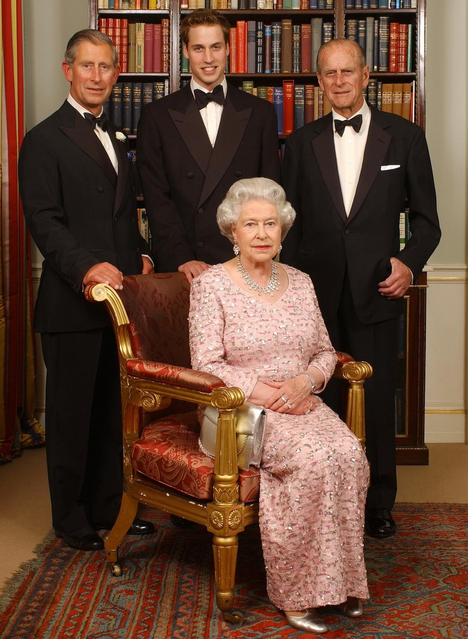 File photo dated 02/06/03 of three generations of the British Royal family - Queen Elizabeth II and her husband, the Duke of Edinburgh, their oldest son, the Prince of Wales, and his oldest son, Prince William, at Clarence House in London before a dinner to mark the 50th anniversary of her Coronation., Image: 394495626, License: Rights-managed, Restrictions: FILE PHOTO, Model Release: no, Credit line: Kirsty Wigglesworth / PA Images / Profimedia