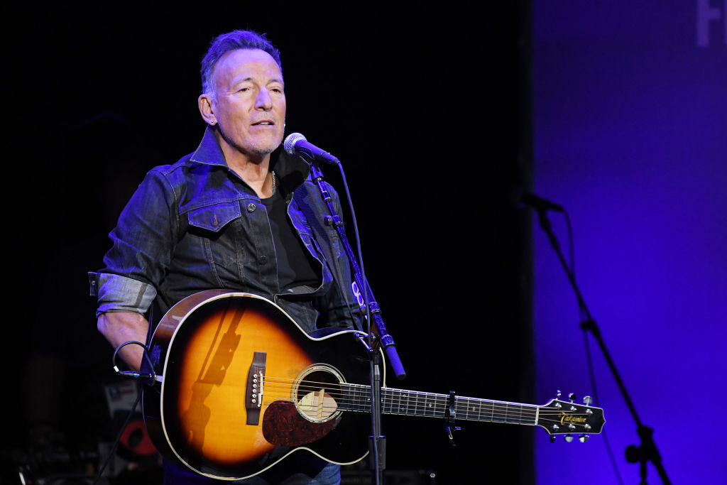 NEW YORK, NEW YORK - NOVEMBER 04: Bruce Springsteen performs onstage during the 13th annual Stand Up for Heroes to benefit the Bob Woodruff Foundation at The Hulu Theater at Madison Square Garden on November 04, 2019 in New York City. (Photo by Mike Coppola/Getty Images for The Bob Woodruff Foundation)