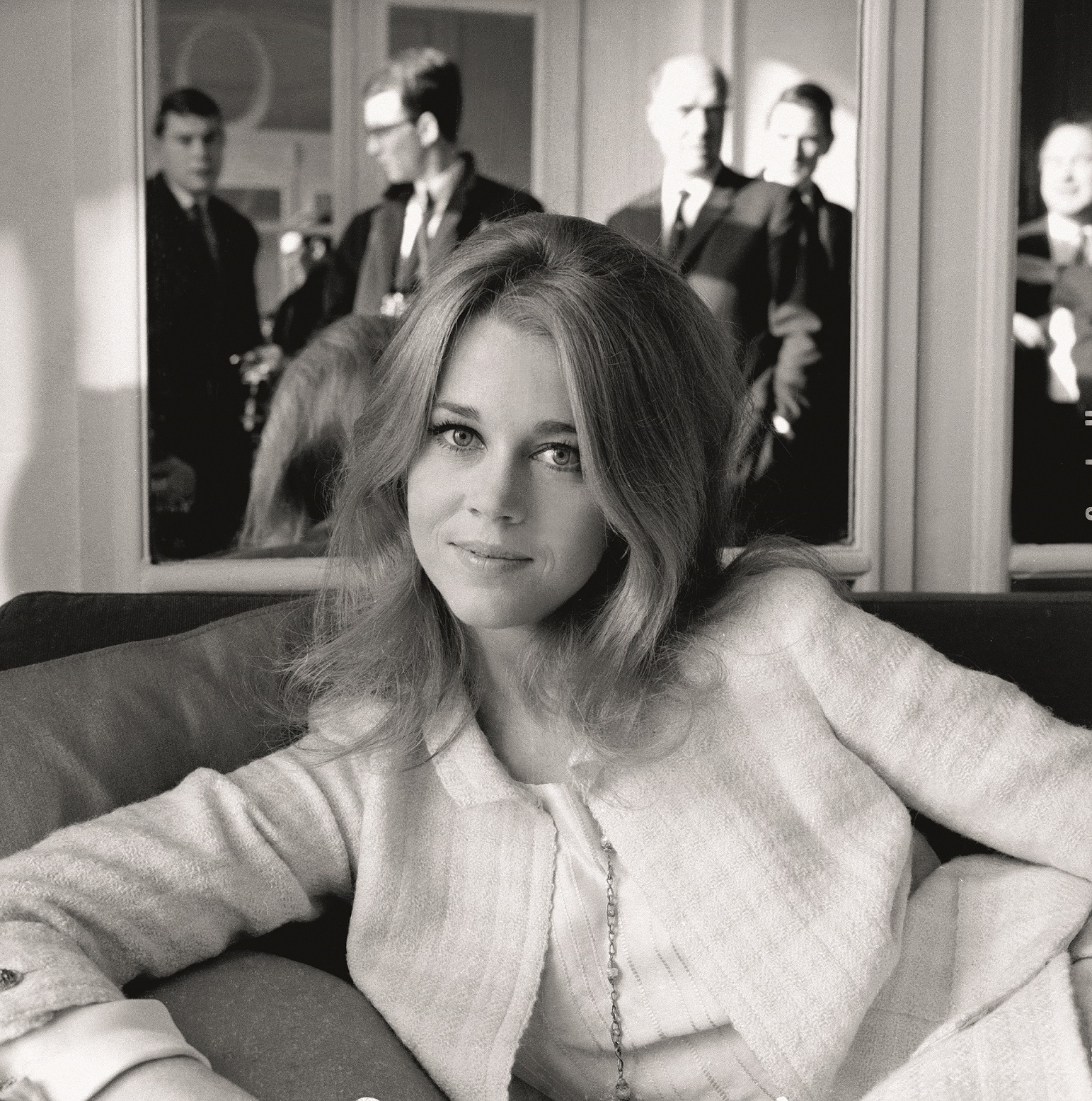 23rd January 1965:  American actress Jane Fonda at the Savoy Hotel, London holds a press reception.  (Photo by Kaye/Express/Getty Images)