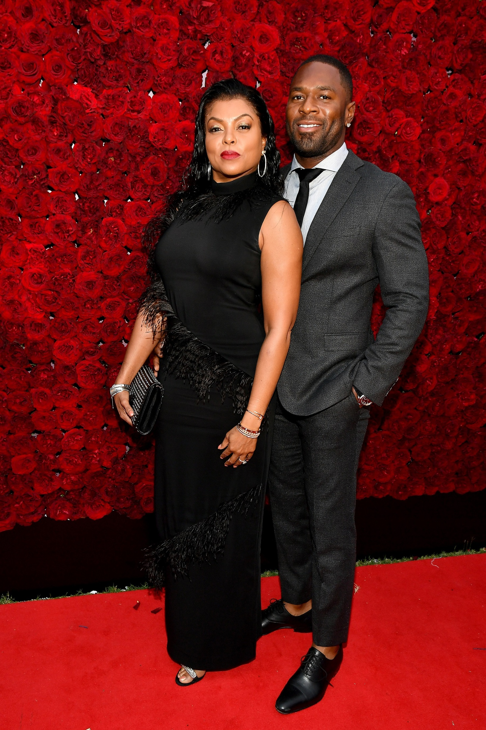 ATLANTA, GEORGIA - OCTOBER 05: Taraji P. Henson and Kelvin Hayden attend Tyler Perry Studios grand opening gala at Tyler Perry Studios on October 05, 2019 in Atlanta, Georgia. (Photo by Paras Griffin/Getty Images for Tyler Perry Studios)