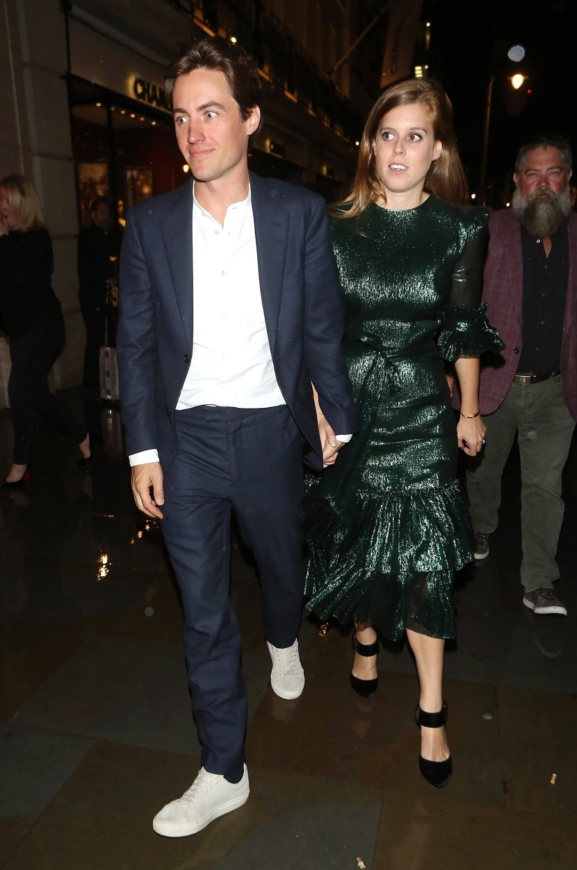 London, UNITED KINGDOM  - Kate Moss turns up to support boyfriend Nikolai Von Bismark on his new book with Dior - The Dior sessions. Princess Eugenie and Jack Brooksbank along with sister Princess Beatrice and Edoardo Mozzi also arrived at the party.  BACKGRID UK 1 OCTOBER 2019, Image: 474648245, License: Rights-managed, Restrictions: , Model Release: no, Credit line: A WEIR / BACKGRID / Backgrid UK / Profimedia