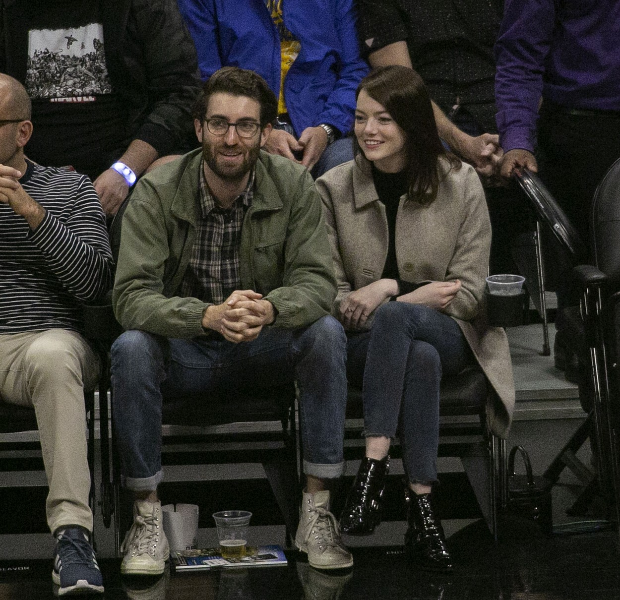 December 4, 2019, Los Angeles, California, United States of America: Actress Emma Stone and her boyfriend filmmaker, Dave McCary announced their engagement. FILE PHOTO: Dave McCary and Emma Stone attend the NBA game between the Los Angeles Clippers and the Golden State Warriors on Friday January 18, 2019 at the Staples Center in Los Angeles, California. ARIANA RUIZ/PI, Image: 486427094, License: Rights-managed, Restrictions: , Model Release: no, Credit line: Ariana Ruiz/Pi / Zuma Press / Profimedia