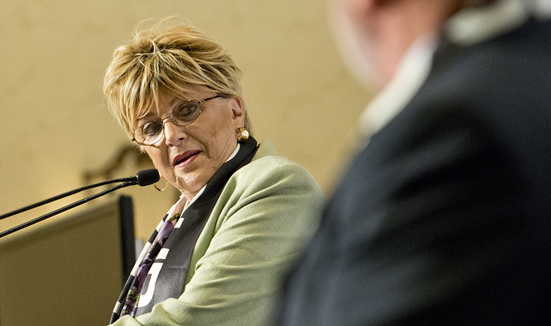 Jul 11, 2019; Las Vegas, NV, USA; Las Vegas mayor Carolyn G. Goodman speaks during a press conference inside the Bellagio Hotel and Casino convention center.., Image: 457499800, License: Rights-managed, Restrictions: *** World Rights ***, Model Release: no, Credit line: USA TODAY Network / ddp USA / Profimedia