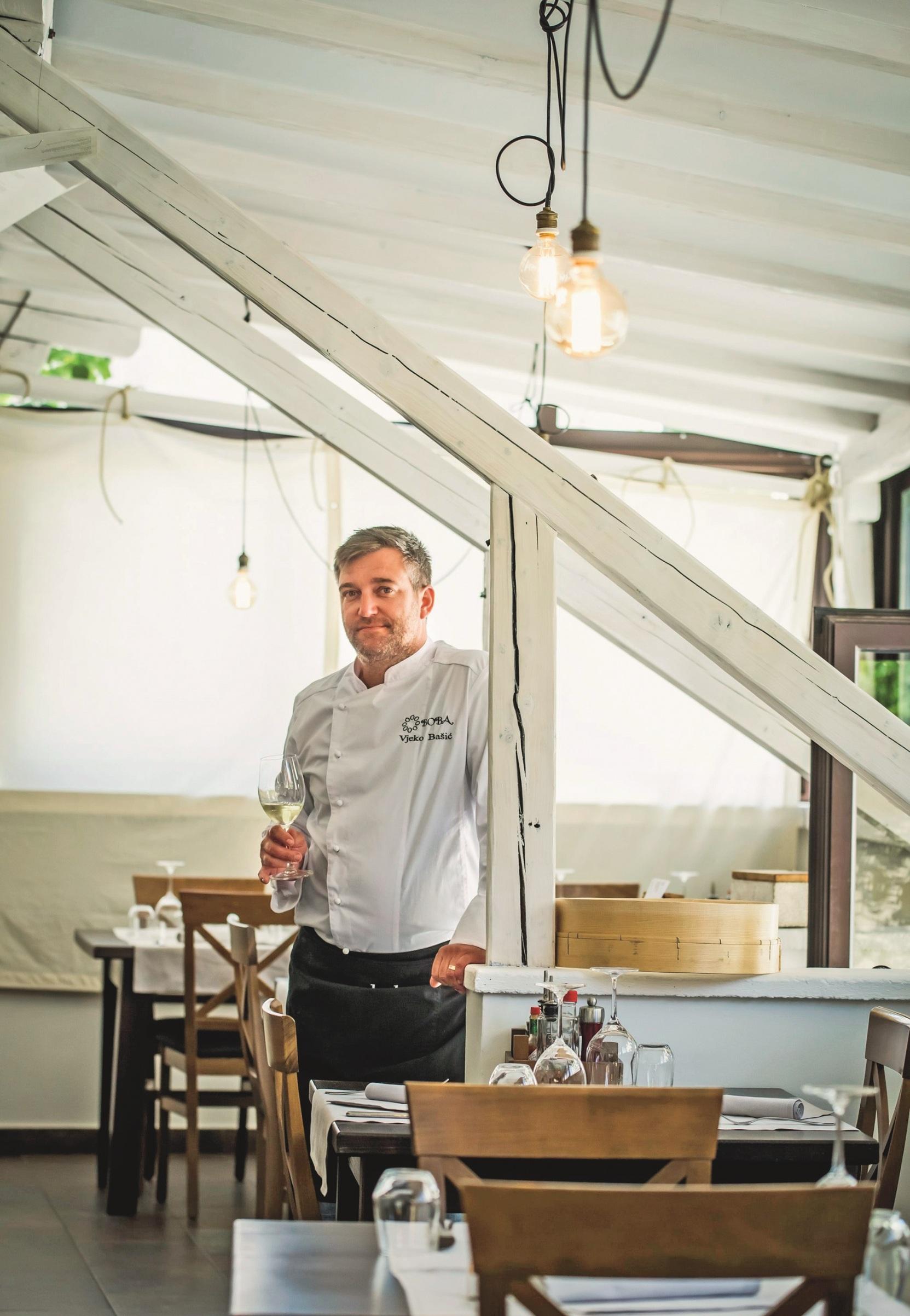 Murter, 040518. Kandidat za Michelinovu zvijezdicu kuhar Vjeko Basic. Foto: Nikolina Vukovic Stipanicev / CROPIX