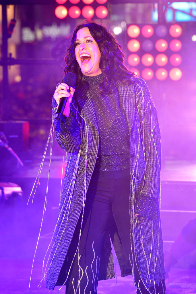 NEW YORK, NEW YORK - DECEMBER 31: Alanis Morissette performs during Dick Clark's New Year's Rockin' Eve With Ryan Seacrest 2020 on December 31, 2019 in New York City. (Photo by Eugene Gologursky/Getty Images for Dick Clark Productions )