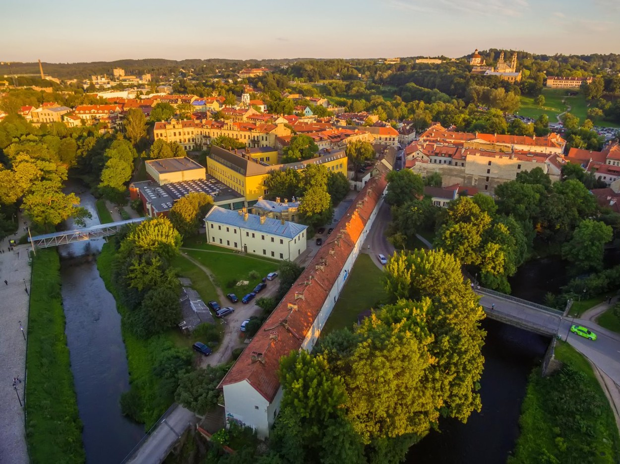 AERIAL. Old Town in Vilnius, Lithuania in the summer, Image: 297839726, License: Royalty-free, Restrictions: , Model Release: no, Credit line: Rolandas Misius / Alamy / Alamy / Profimedia