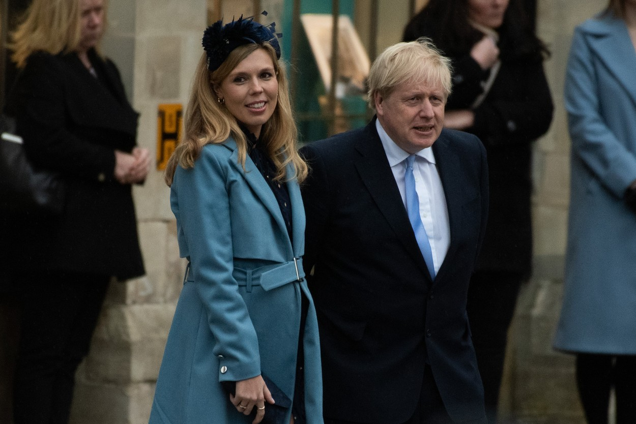 British Prime Minister Boris Johnson and partner Carrie Symonds depart The Commonwealth Day Service at Westminster Abbey, London, England, UK on Monday 9 March, 2020., Image: 504933241, License: Rights-managed, Restrictions: WORLD RIGHTS - Fee Payable Upon Reproduction - For queries contact Avalon.red - sales@avalon.red London: +44 (0) 20 7421 6000 Los Angeles: +1 (310) 822 0419 Berlin: +49 (0) 30 76 212 251, Model Release: no, Credit line: Justin Ng / Avalon Editorial / Profimedia