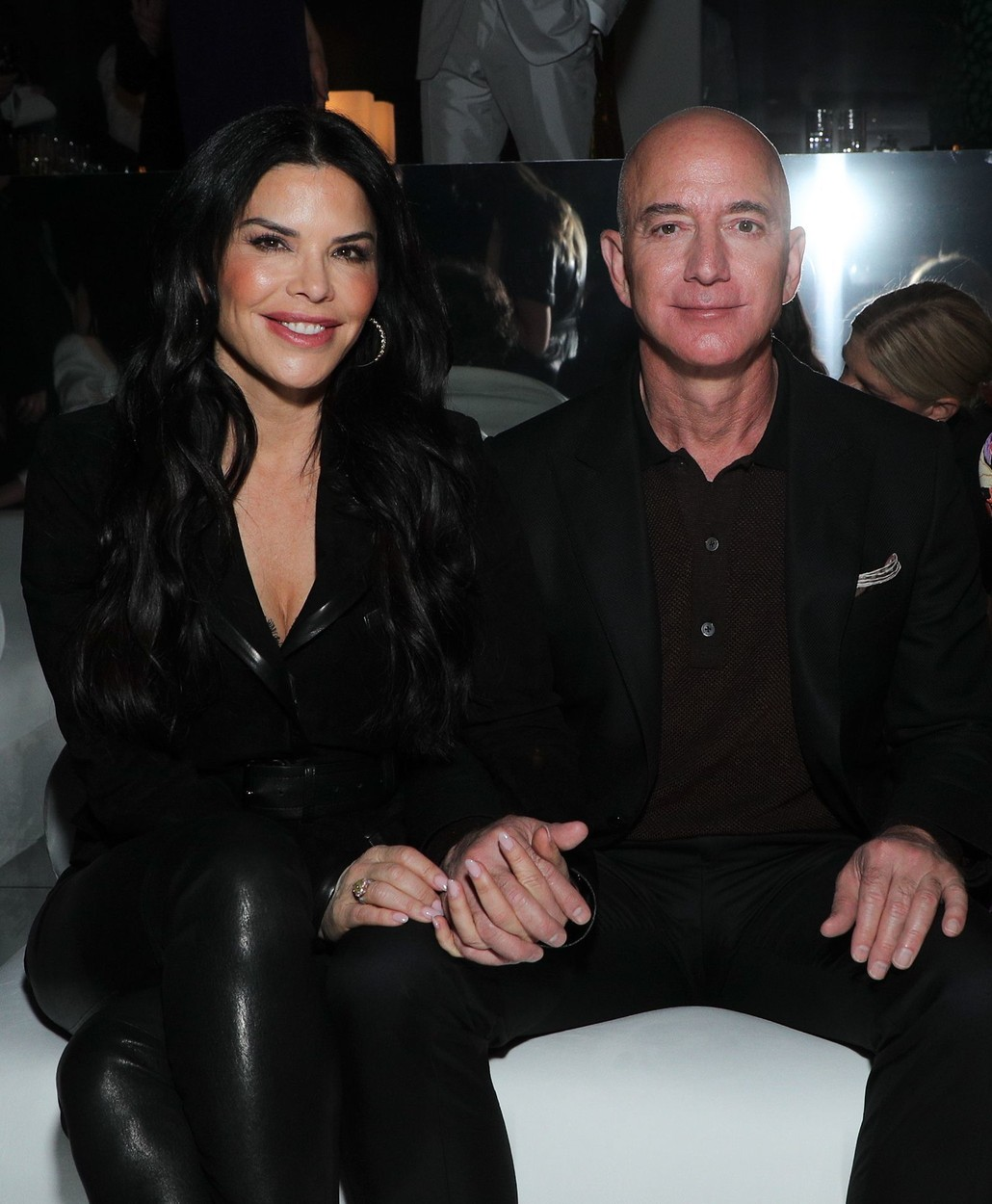 Lauren Sanchez and Jeff Bezos in the front row Tom Ford show, Front Row, Fall Winter 2020, Milk Studios, Los Angeles, USA - 07 Feb 2020, Image: 497105888, License: Rights-managed, Restrictions: , Model Release: no, Credit line: John Salangsang/WWD / Shutterstock Editorial / Profimedia
