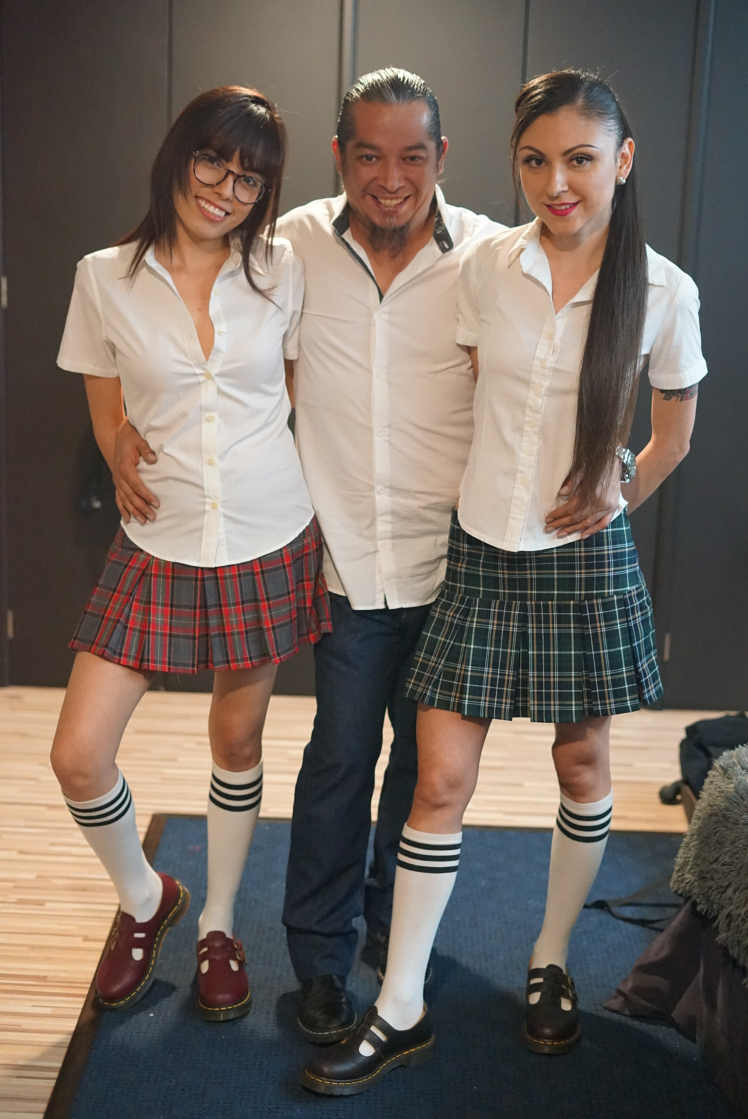 Lucy pictured with Rodrigo and Melin pictured in school uniform. MONTERREY CITY, MEXICO: THIS COUPLE married ONE WEEK AFTER THEY FIRST MET and have since invited a woman TWENTY-THREE YEARS his junior to join their relationship. On May 14, 2012, marketing entrepreneur, Rodrigo Contreras Diaz (41) from Monterrey City, Mexico, met his now wife, nutritionist, Melin Velasco Reyes (31) from Guadalajara City, through a mutual friend. Sparks flew instantly and Rodrigo ended up proposing to Melin that same day, to which she agreed. After just a week of preparations, they got married on May 21, 2012. Despite only having eyes for her, he explained to her early on in their relationship that he didn?t want a traditional monogamous relationship as he lived an alternative lifestyle and was open to a polyamorous relationship, which she accepted. For four years they focussed on their relationship then re-visited their exploration of other forms of partnerships and searched for another woman to join them in their union. On April 27, 2016, whilst they were both at a bar, they met one of the waitresses, Lucy (18), who was in high school at the time. Initially Lucy was shocked when Rodrigo began flirting with her in front of Melin, but after a few hours of chatting, they became closer and formed a polyamorous relationship. Since then, he admits that the addition of Lucy has positively improved his marriage with Melin and they now all plan to get married as a throuple, although Melin and Lucy, who are both straight, do not have a sexual relationship. mediadrumworld.com / @trikytriad, Image: 510886270, License: Rights-managed, Restrictions: , Model Release: no, Credit line: mediadrumworld.com / @trikytriad / Media Drum World / Profimedia