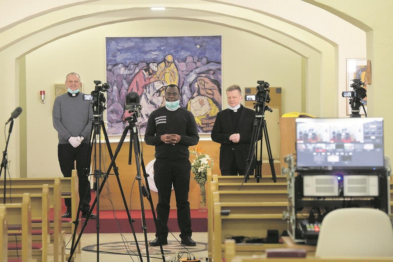 rektor Željko Tanjić, Krunoslav Novak i Odilon Singbo