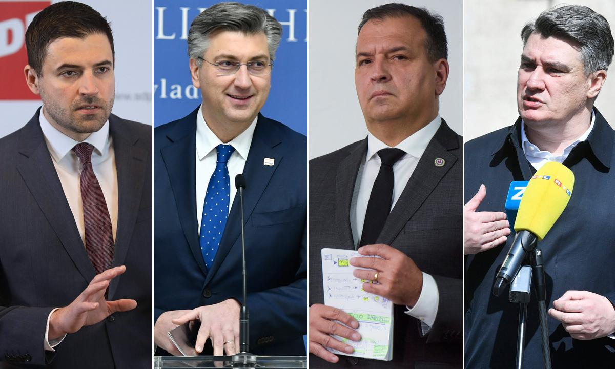 Davor Bernardić, Andrej Plenković, Vili Beroš, Zoran Milanović