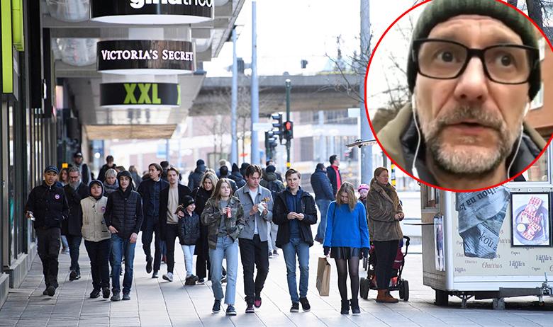 Stockholm; u krugu: Oskar Juras
